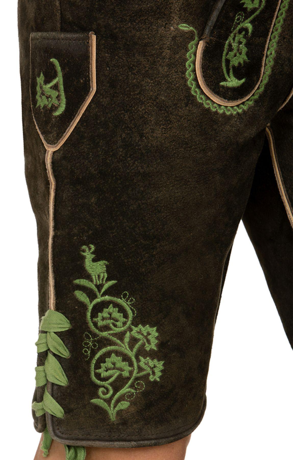Stockerpoint - Herren Trachten Lederhose mit Träger, in verschiedenen Farben, Edgar – Bild 5