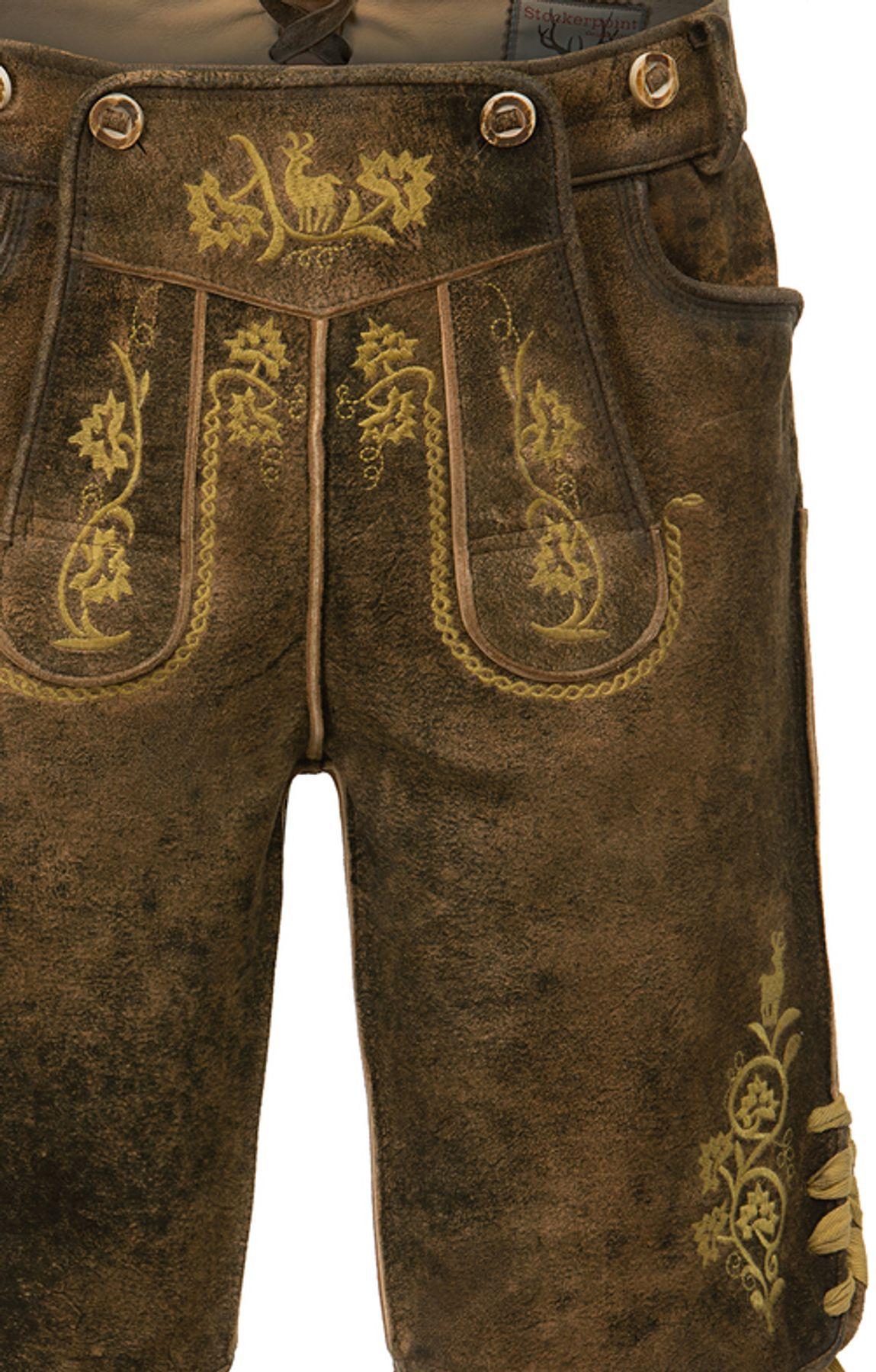 Stockerpoint - Herren Trachten Lederhose mit Träger, in verschiedenen Farben, Edgar – Bild 20