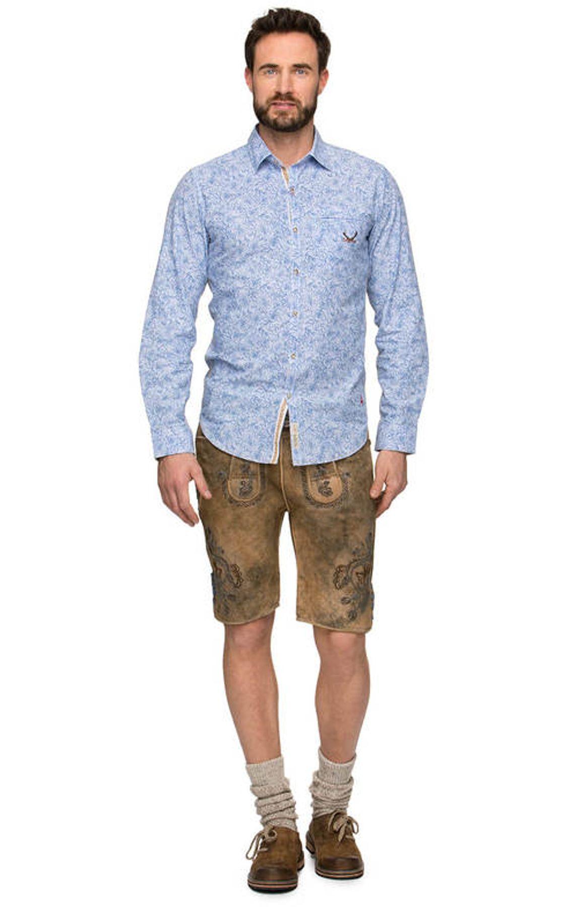 Stockerpoint - Herren Trachtenhemd in Blue stripe, James – Bild 4