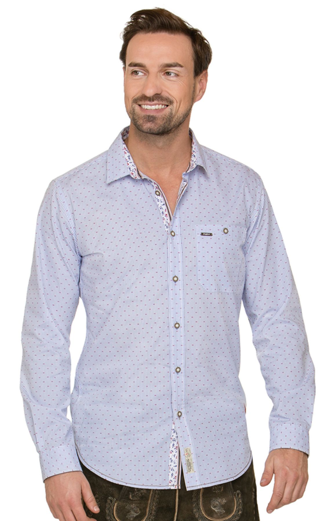 Stockerpoint - Herren Trachtenhemd in Hellblau, Kito – Bild 2