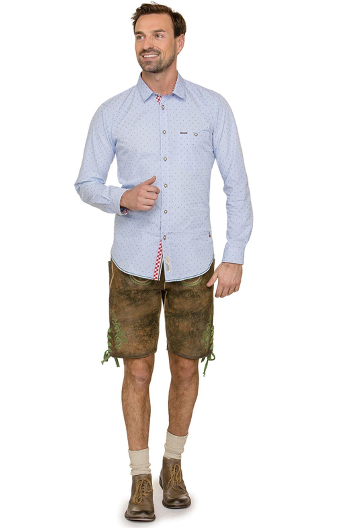 Stockerpoint - Herren Trachtenhemd in Hellblau, Leeroy – Bild 3