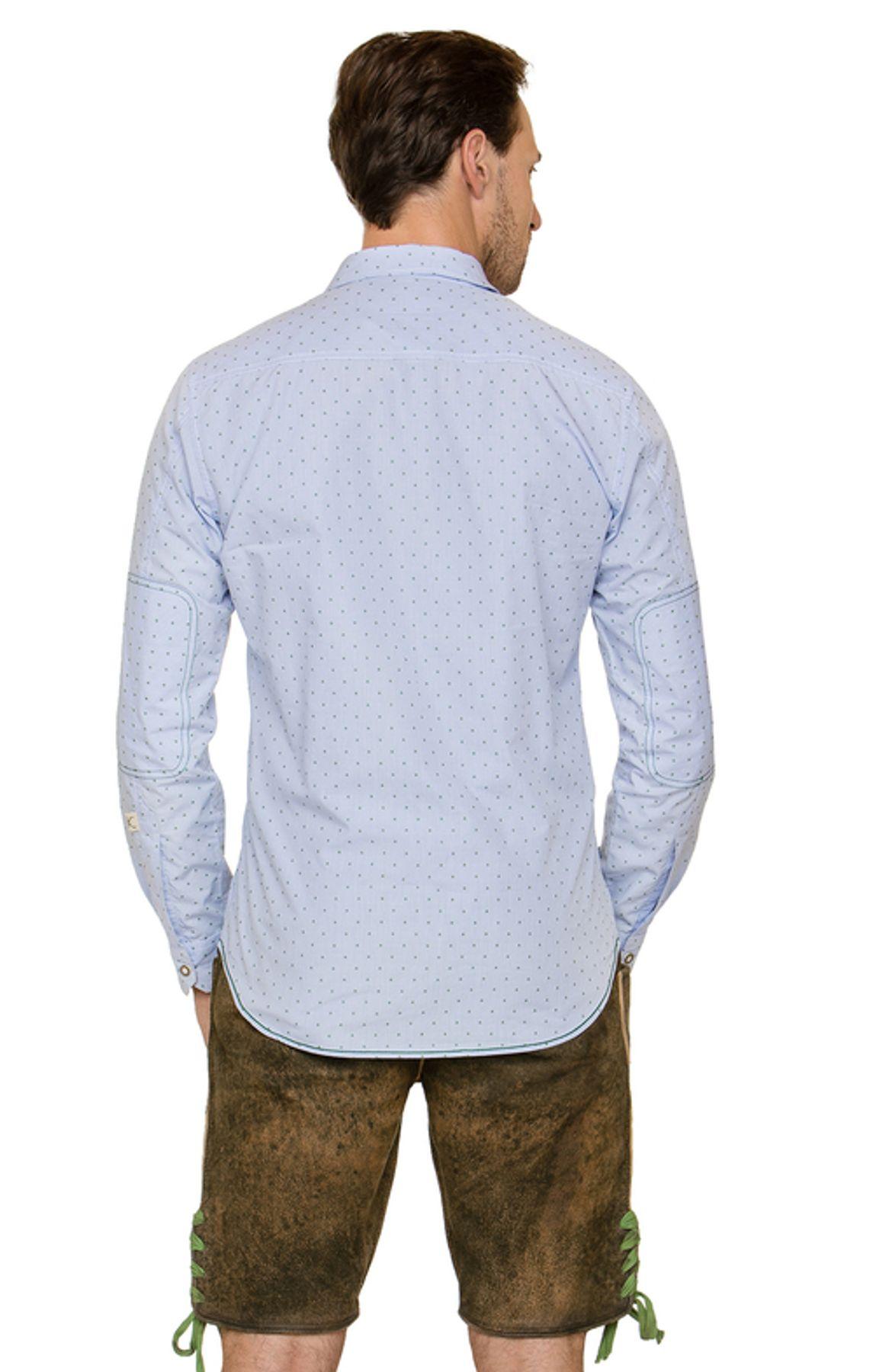 Stockerpoint - Herren Trachtenhemd in Hellblau, Leeroy – Bild 4