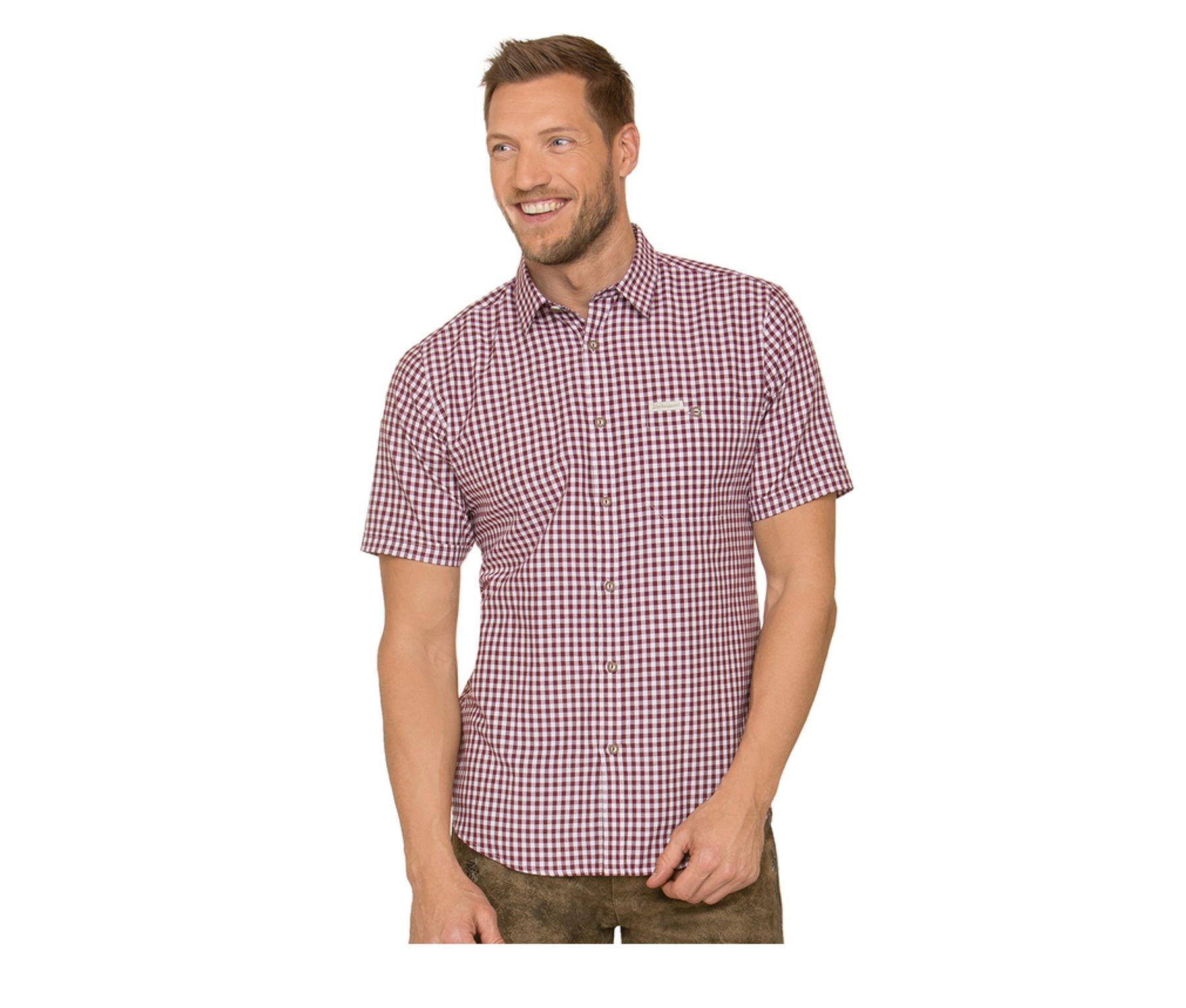 Stockerpoint - Herren kurzarm Trachtenhemd in verschiedenen Farben, Renko3 – Bild 1