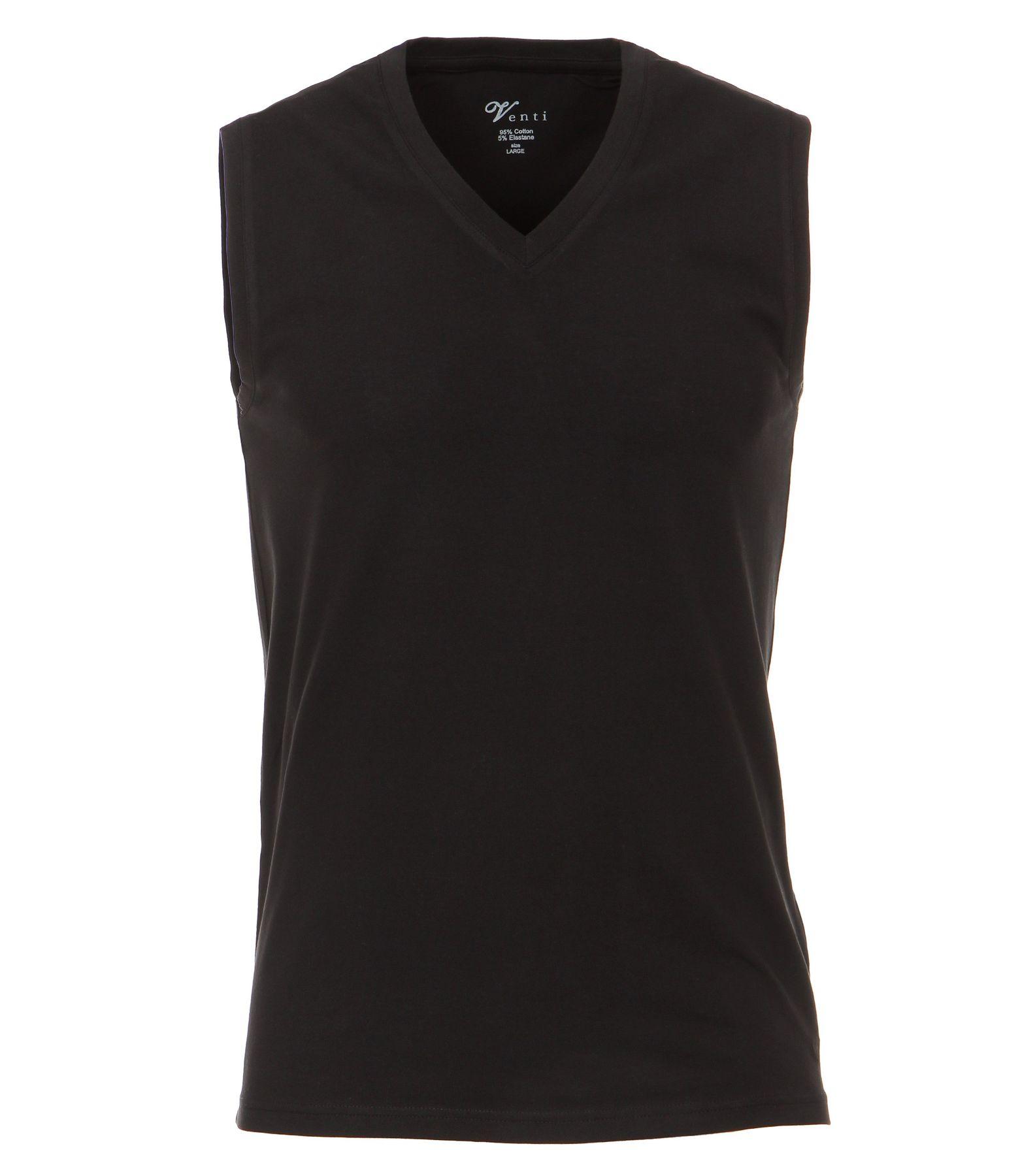 Venti - Slim Fit - Herren Ärmeloses Shirt, V-Auschnitt im 2er Pack, schwarz oder weiß (001760) – Bild 4
