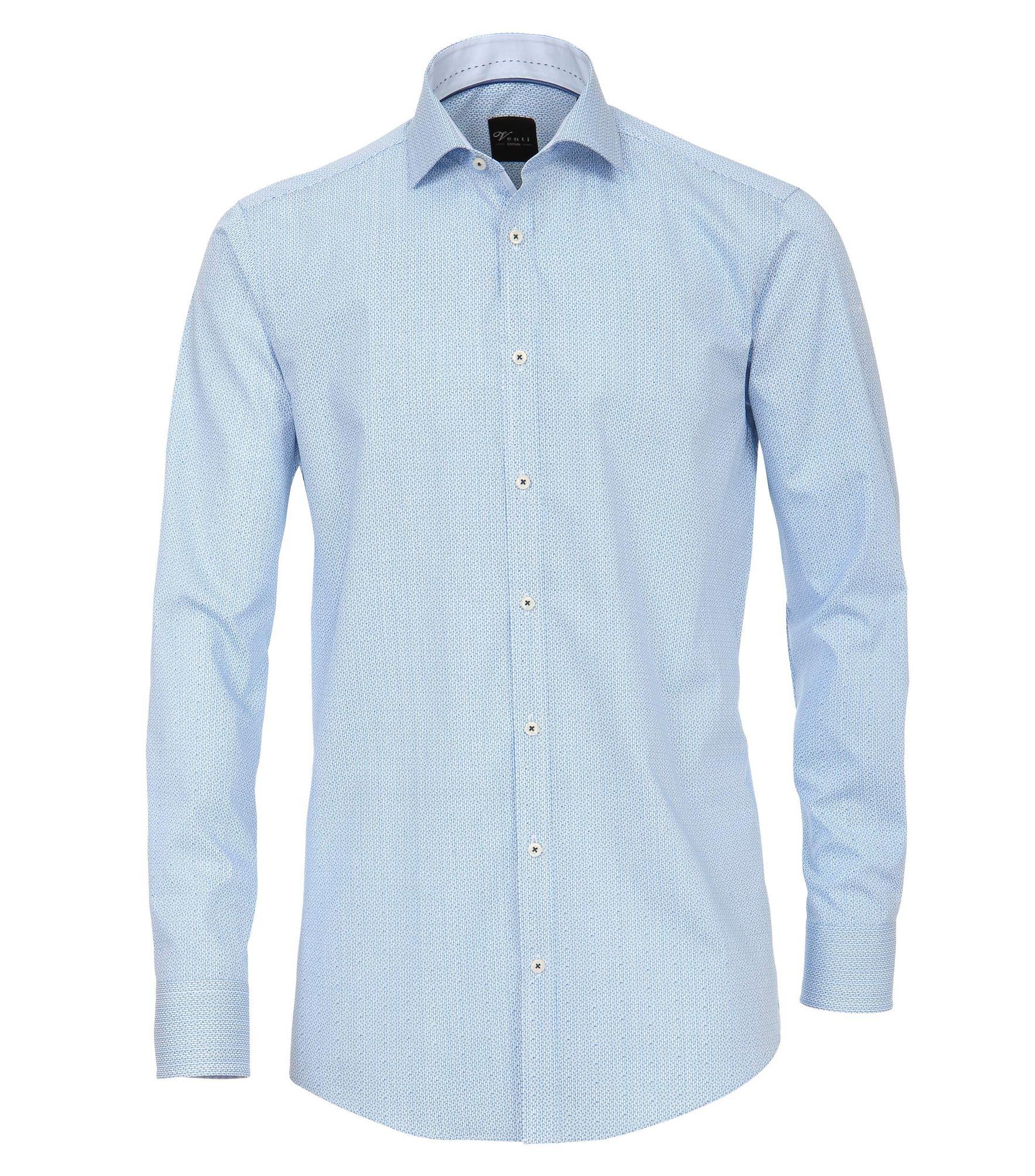 huge selection of ccf99 ad0f1 Venti - Slim Fit - Herren Hemd unifarben mit Button Down-Kragen in Blau  (182919800)