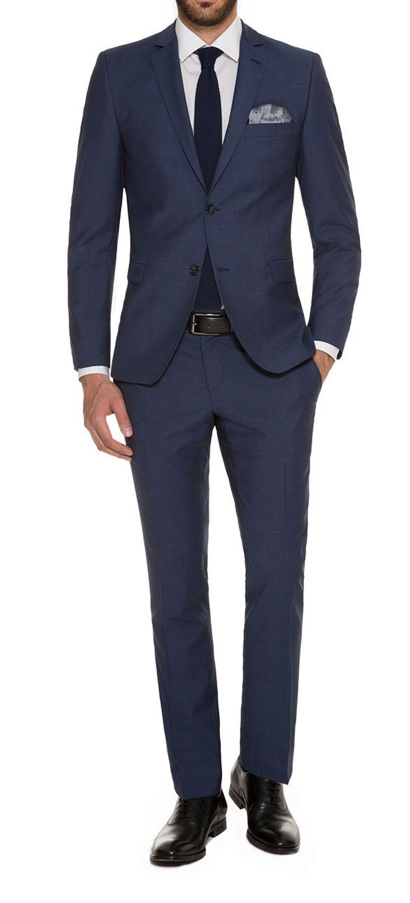 Abiball Anzug - Slim Fit - Herren Anzug in Deep Ocean Blue, Luigi B/Elio (Art.: 835 1510) – Bild 1