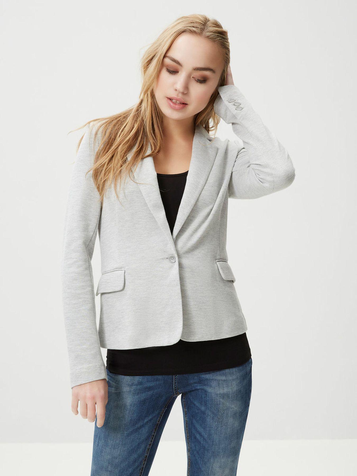 VERO MODA - Damen Jersey-Blazer in grau, schwarz,blau,Curry,rose oder Wine (10154123) – Bild 3