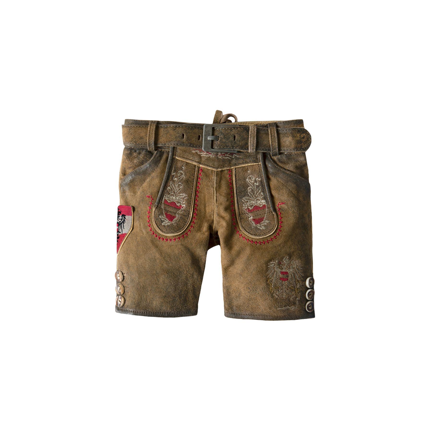 Stockerpoint - Kinder Trachten Lederhose mit Gürtel, Austria jr. Gr: 86-116 – Bild 1