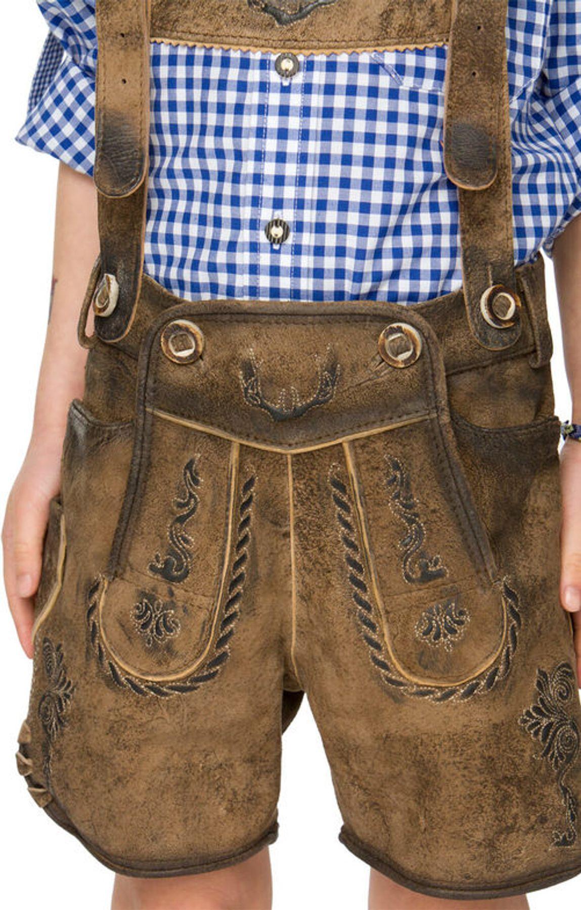 Stockerpoint - Kinder Trachten Lederhose mit Träger, Max Gr: 86-116 – Bild 5