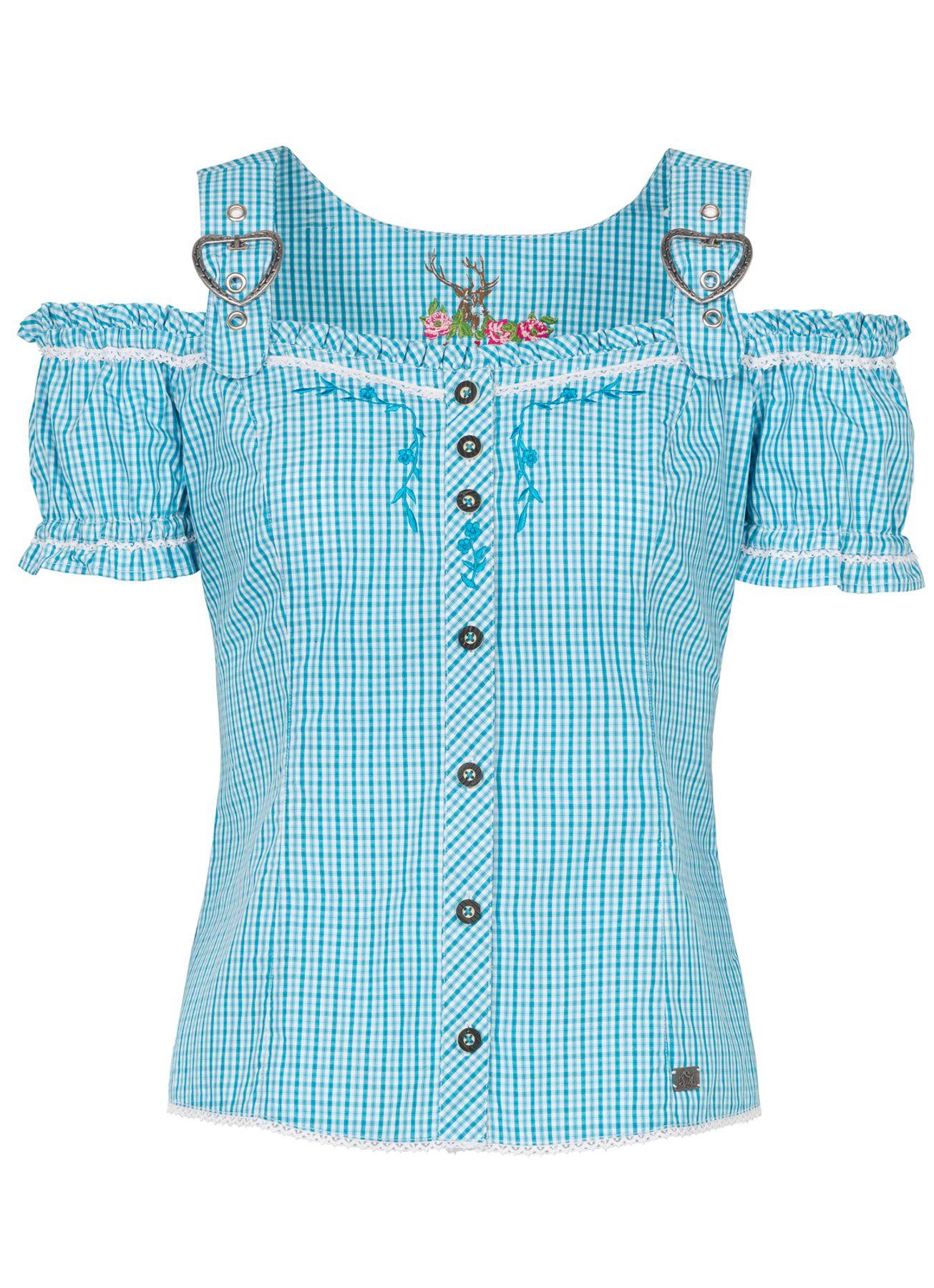 Spieth & Wensky - Damen Trachten Bluse kariert in verschiedenen Farben, Galanta (300410-0948) – Bild 4