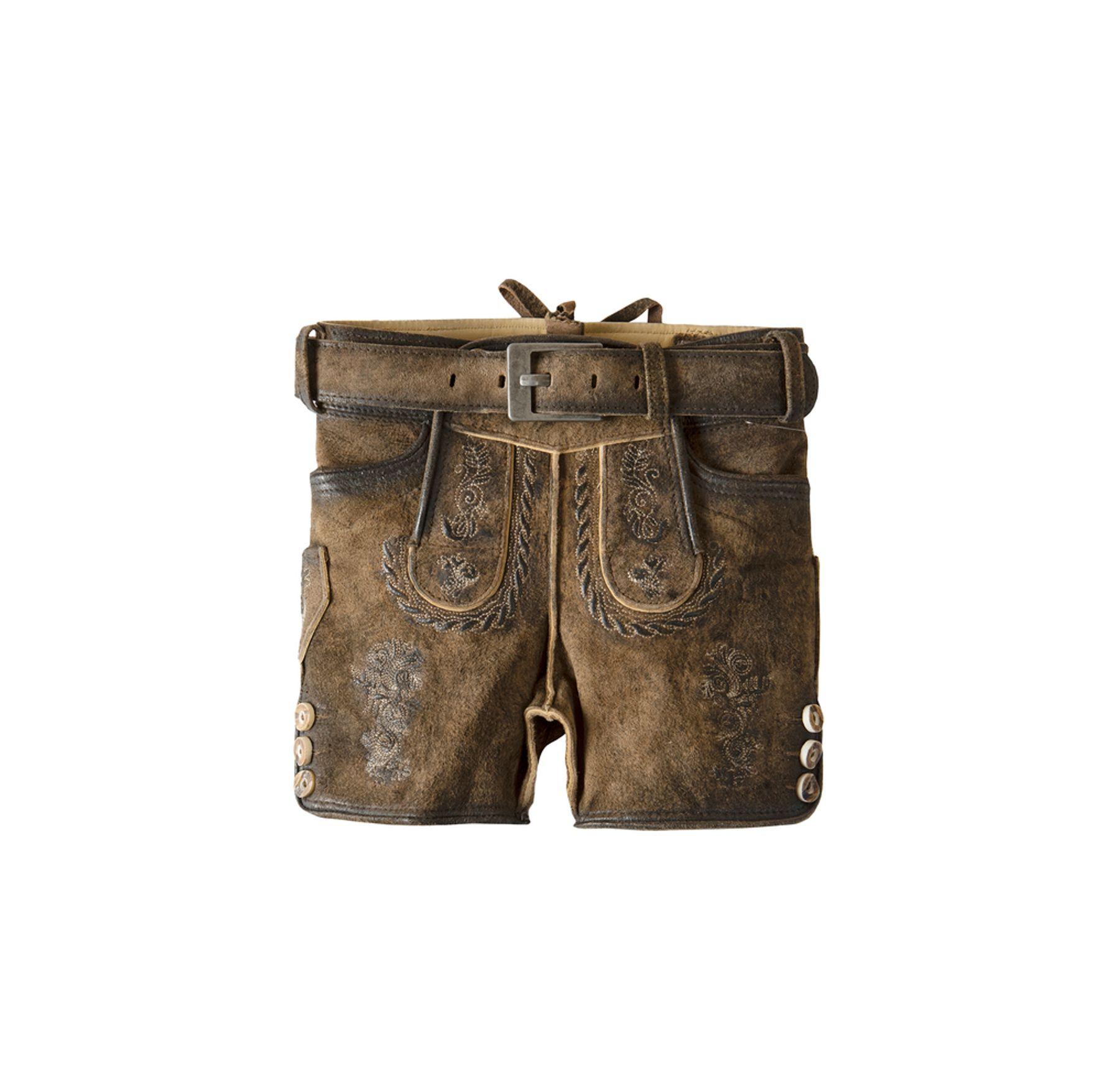 Stockerpoint - Kinder Trachten Lederhose mit Gürtel, Moritz Gr:122-152 – Bild 2