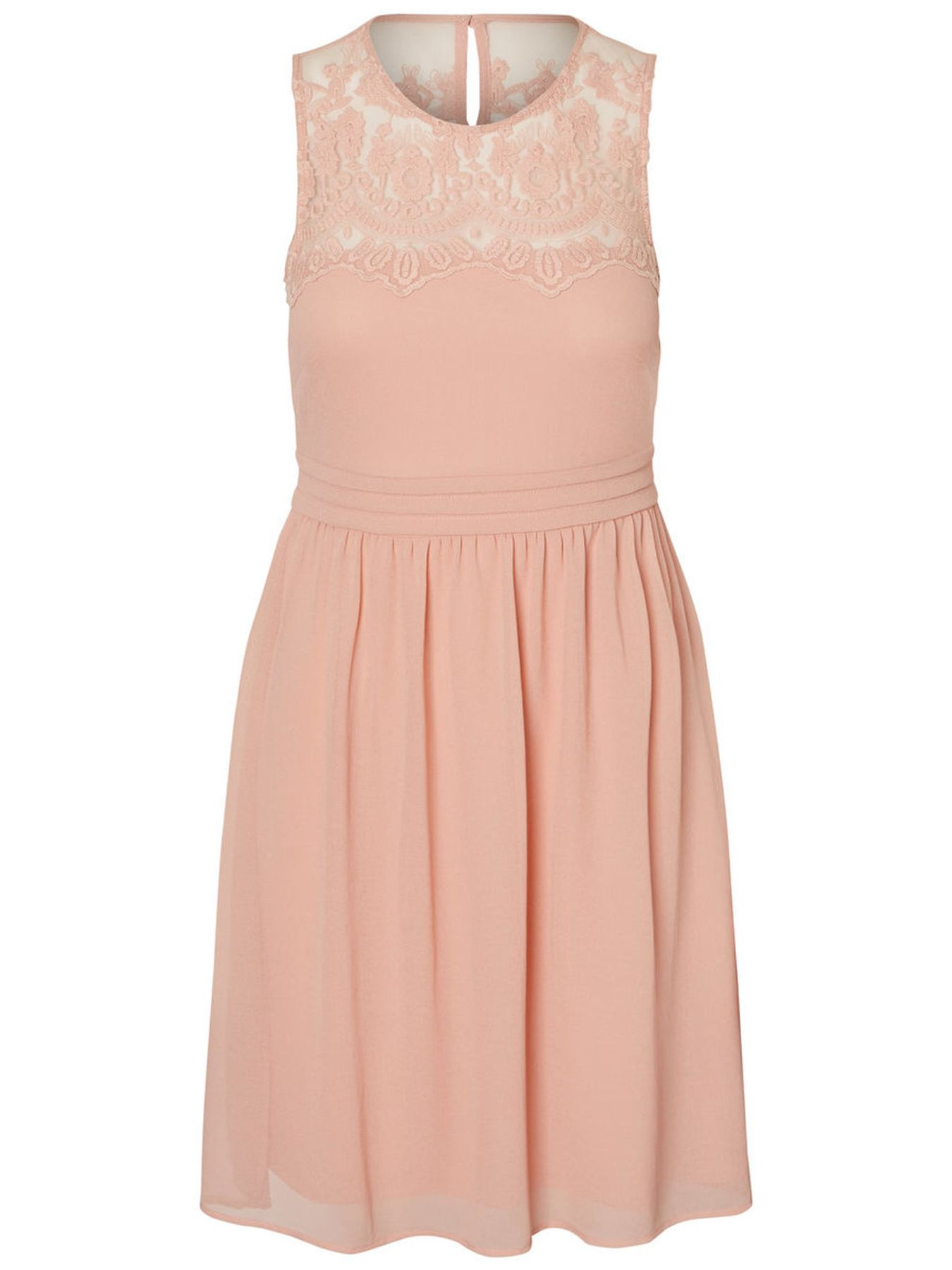 VERO MODA - Damen Spitzen Kleid ohne Ärmel in rose oder blau (10193196) – Bild 1