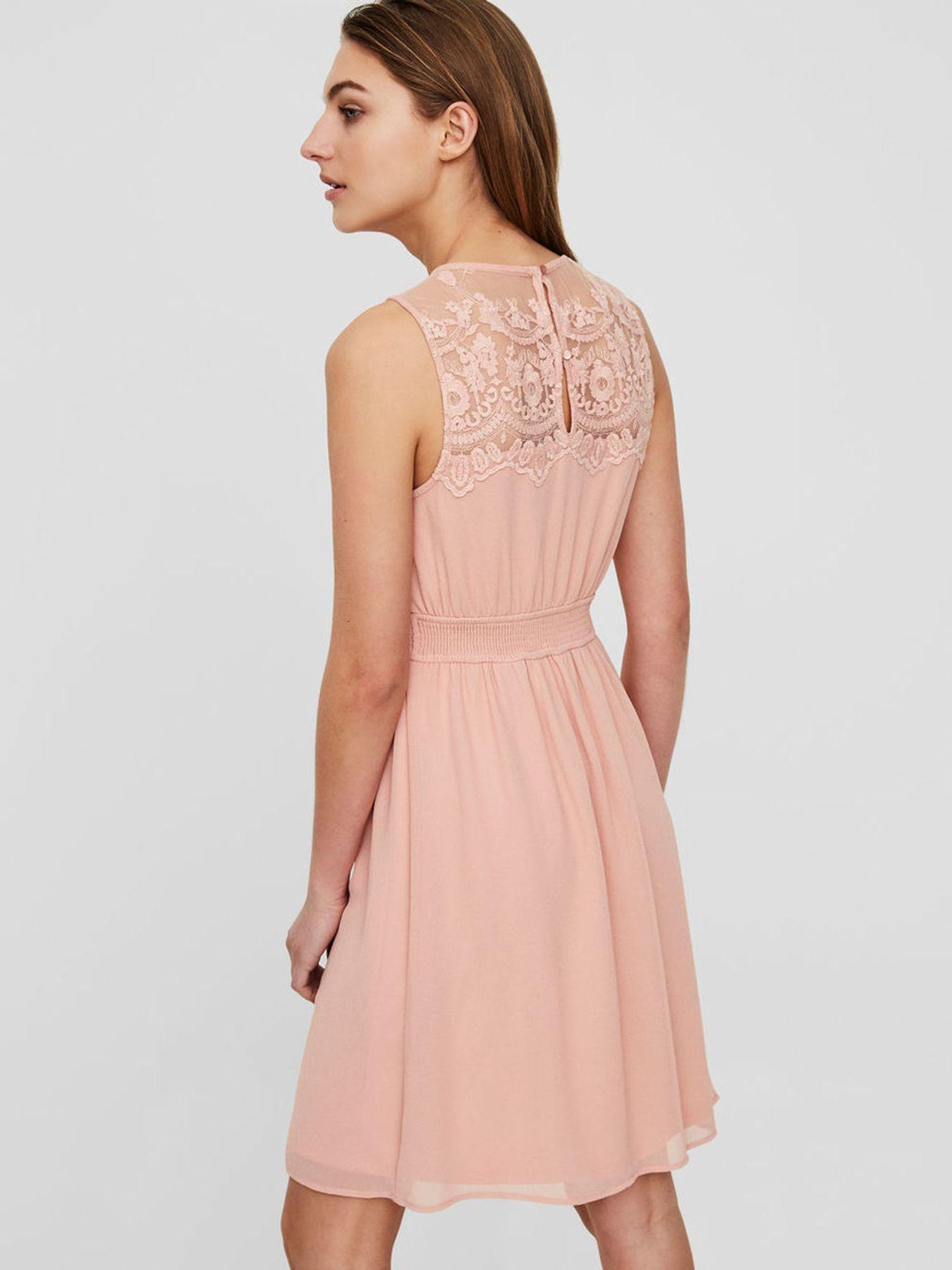 VERO MODA - Damen Spitzen Kleid ohne Ärmel in rose oder blau (10193196) – Bild 4