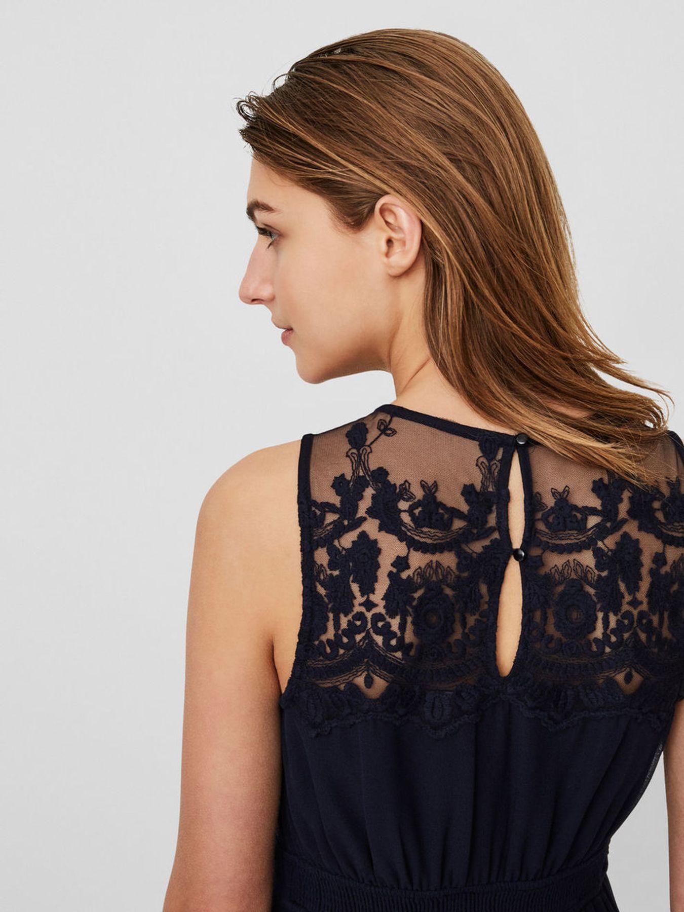 Konfirmations Kleid - VERO MODA - Damen Spitzen Kleid ohne Ärmel in rose oder blau (10193196) – Bild 11