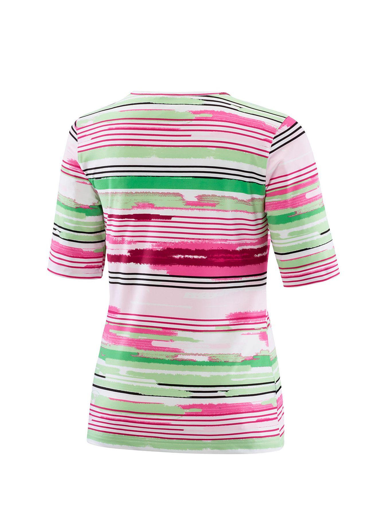 Joy - Damen Sport und Freizeit Shirt mit Streifen-Alloverprint, Alessa (30170A) – Bild 2