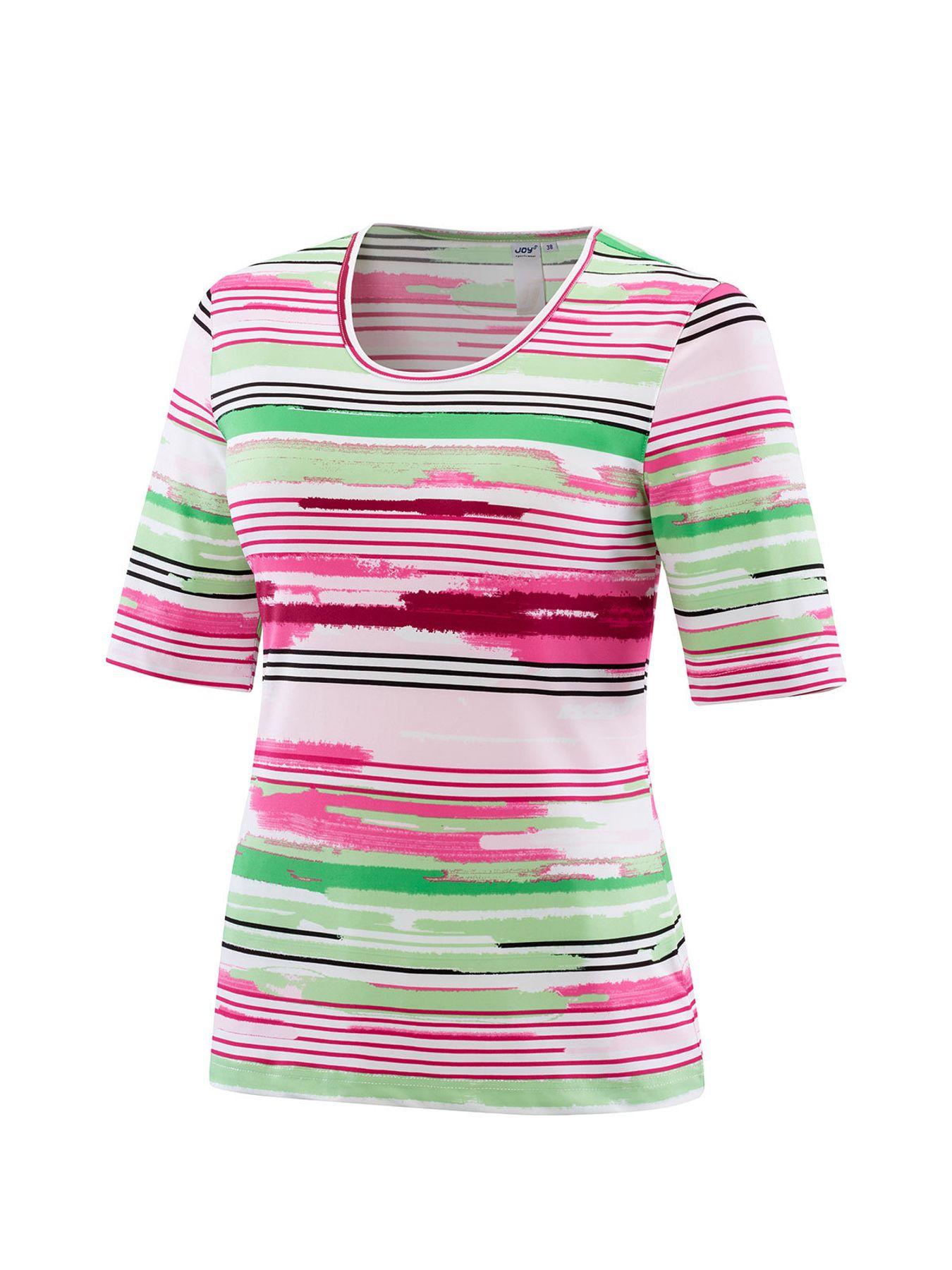 Joy - Damen Sport und Freizeit Shirt mit Streifen-Alloverprint, Alessa (30170A) – Bild 1
