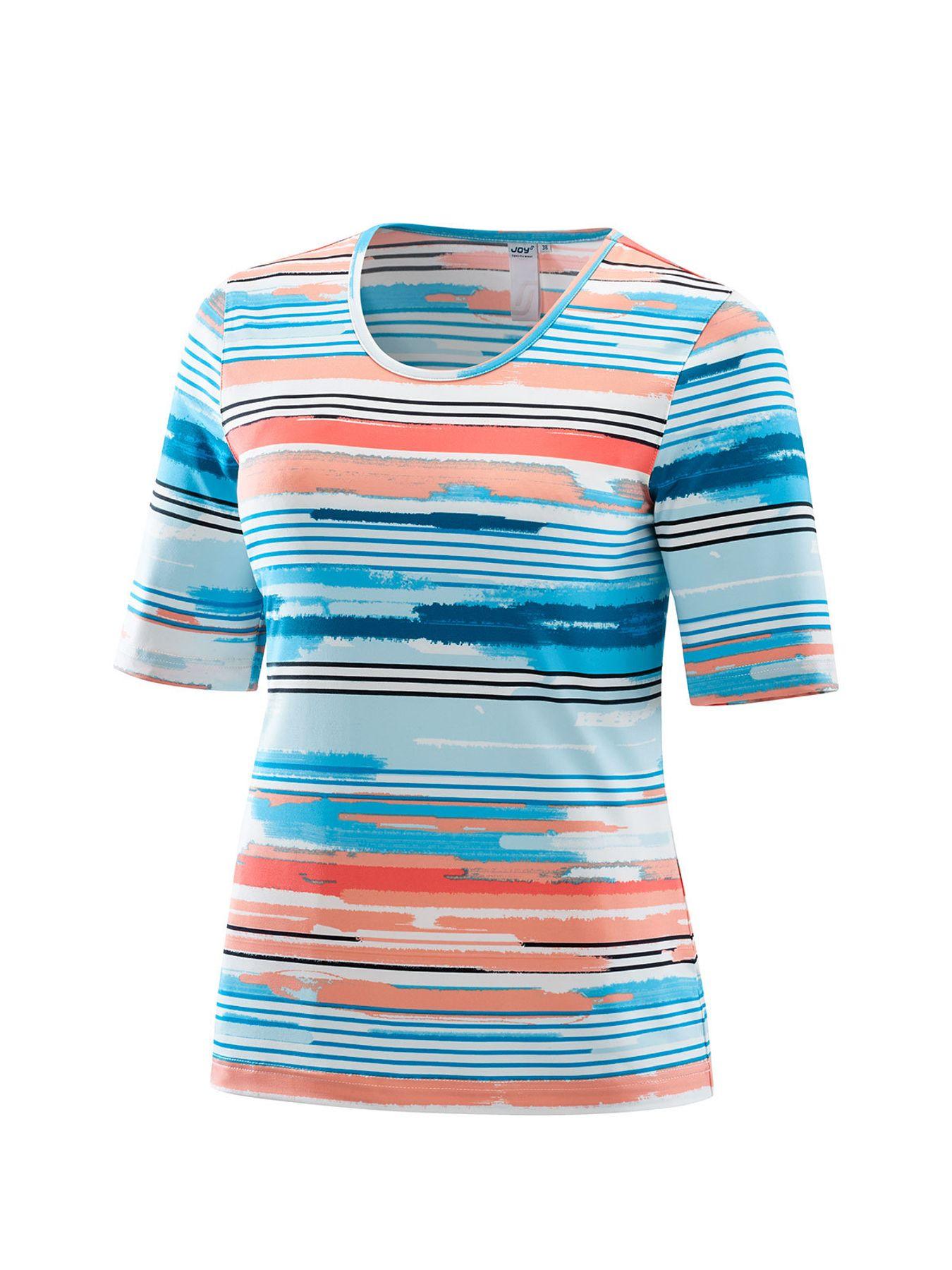 Joy - Damen Sport und Freizeit Shirt mit Streifen-Alloverprint, Alessa (30170A) – Bild 4