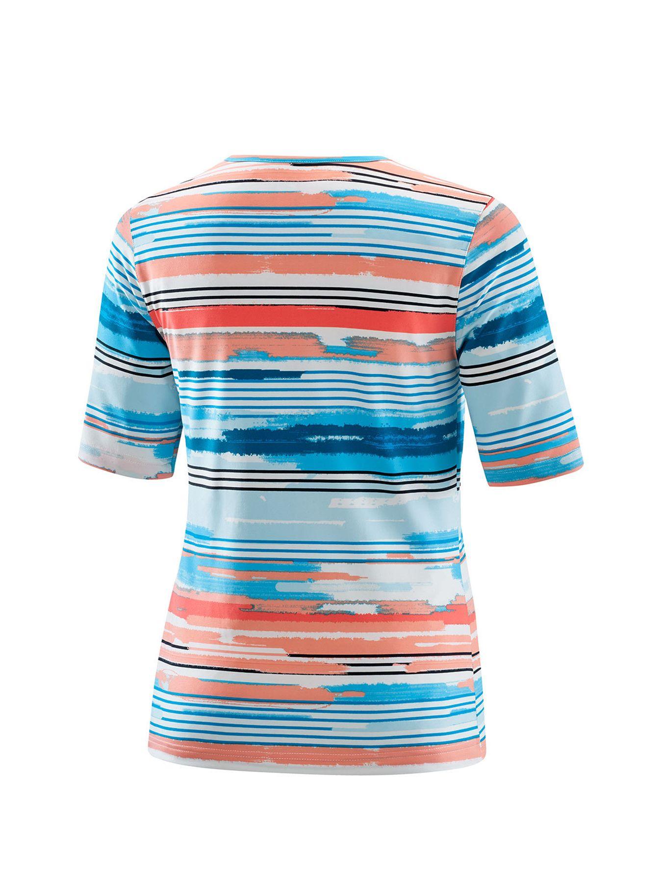 Joy - Damen Sport und Freizeit Shirt mit Streifen-Alloverprint, Alessa (30170A) – Bild 5