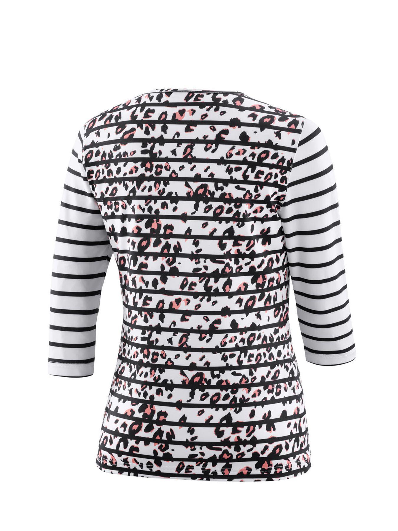 Joy - Damen Sport und Freizeit Shirt mit 3/4 Arm, gestreift, Zina (34517A) – Bild 17