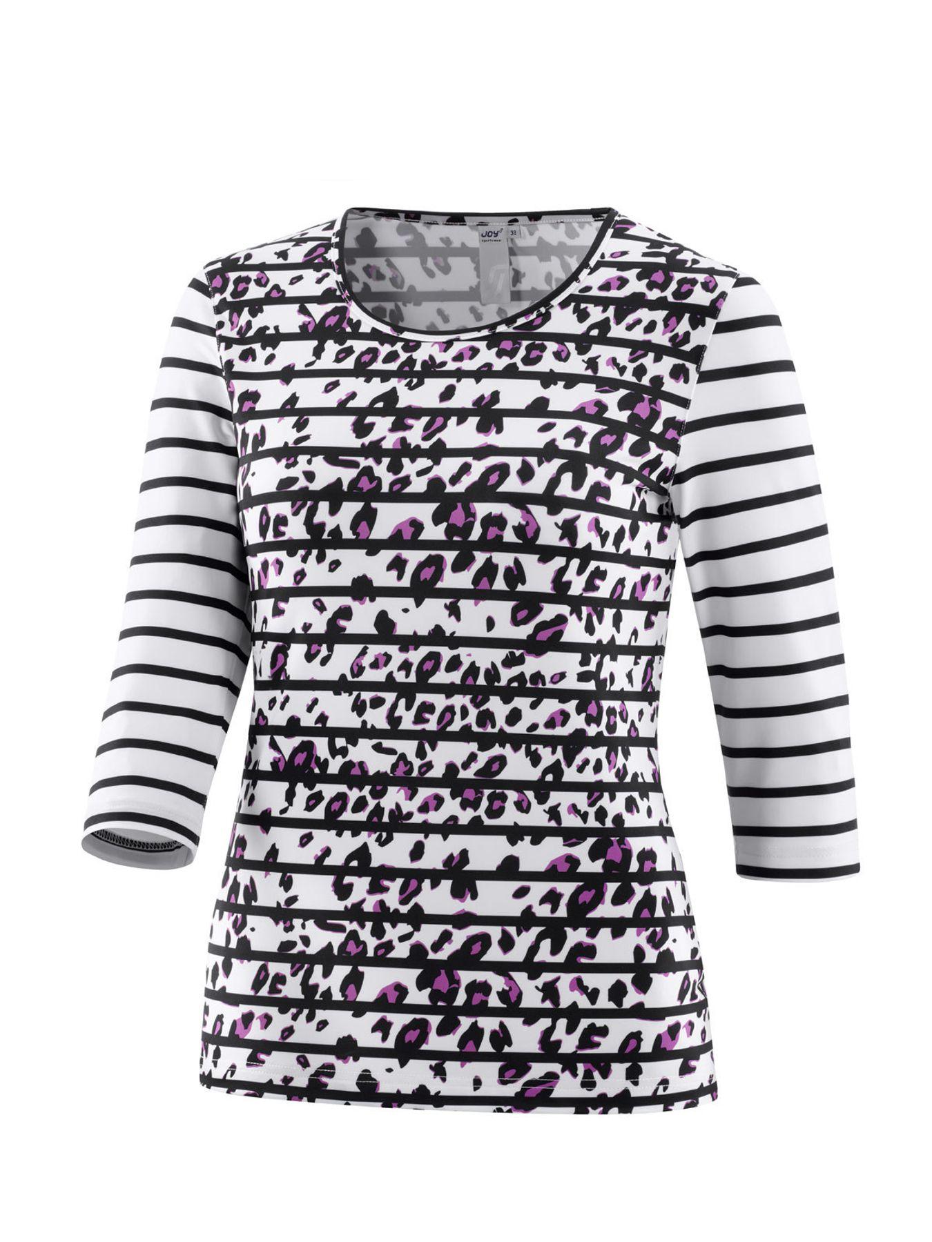 Joy - Damen Sport und Freizeit Shirt mit 3/4 Arm, gestreift, Zina (34517A) – Bild 1