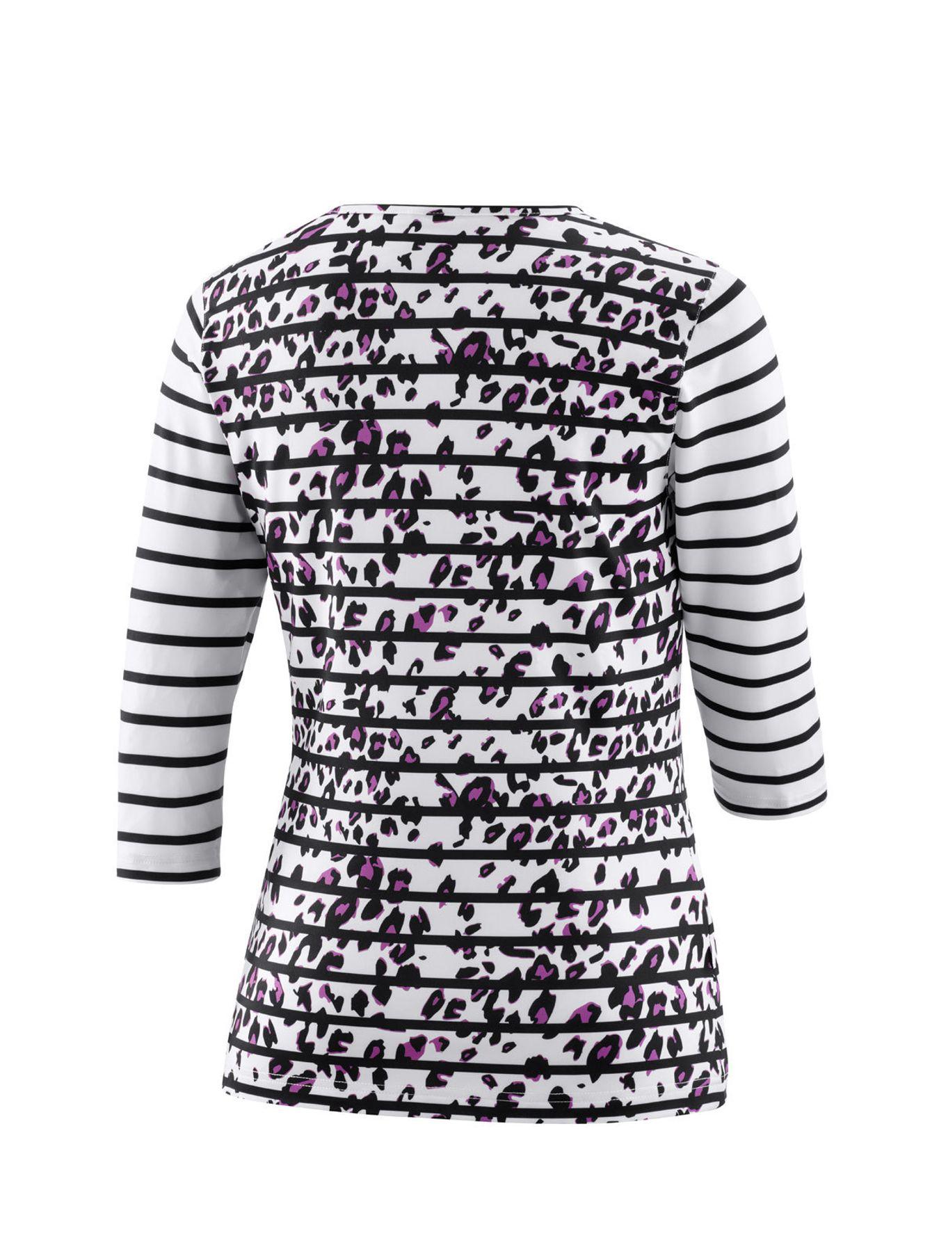 Joy - Damen Sport und Freizeit Shirt mit 3/4 Arm, gestreift, Zina (34517A) – Bild 2