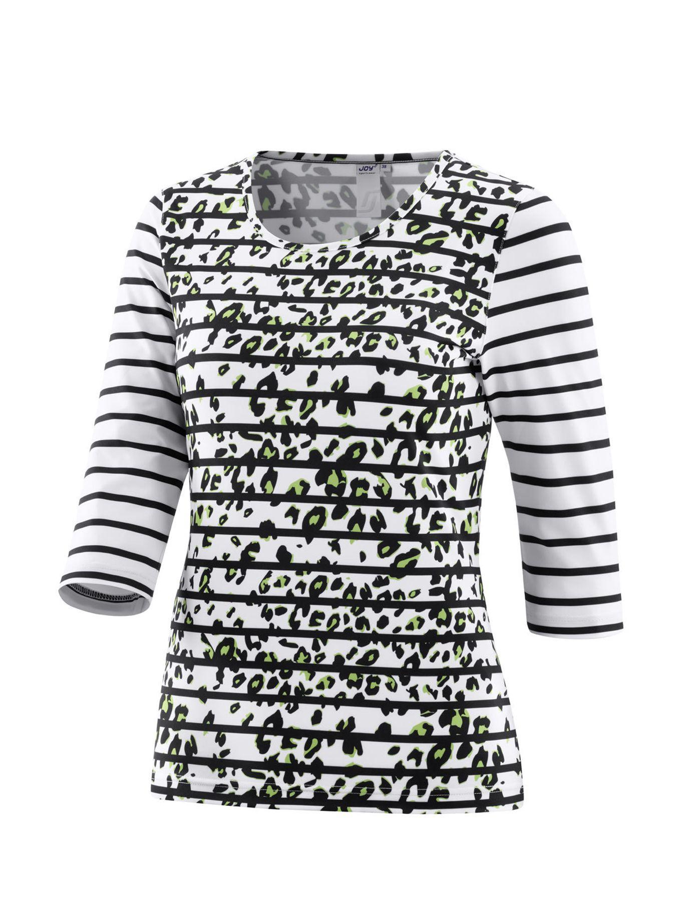 Joy - Damen Sport und Freizeit Shirt mit 3/4 Arm, gestreift, Zina (34517A) – Bild 6