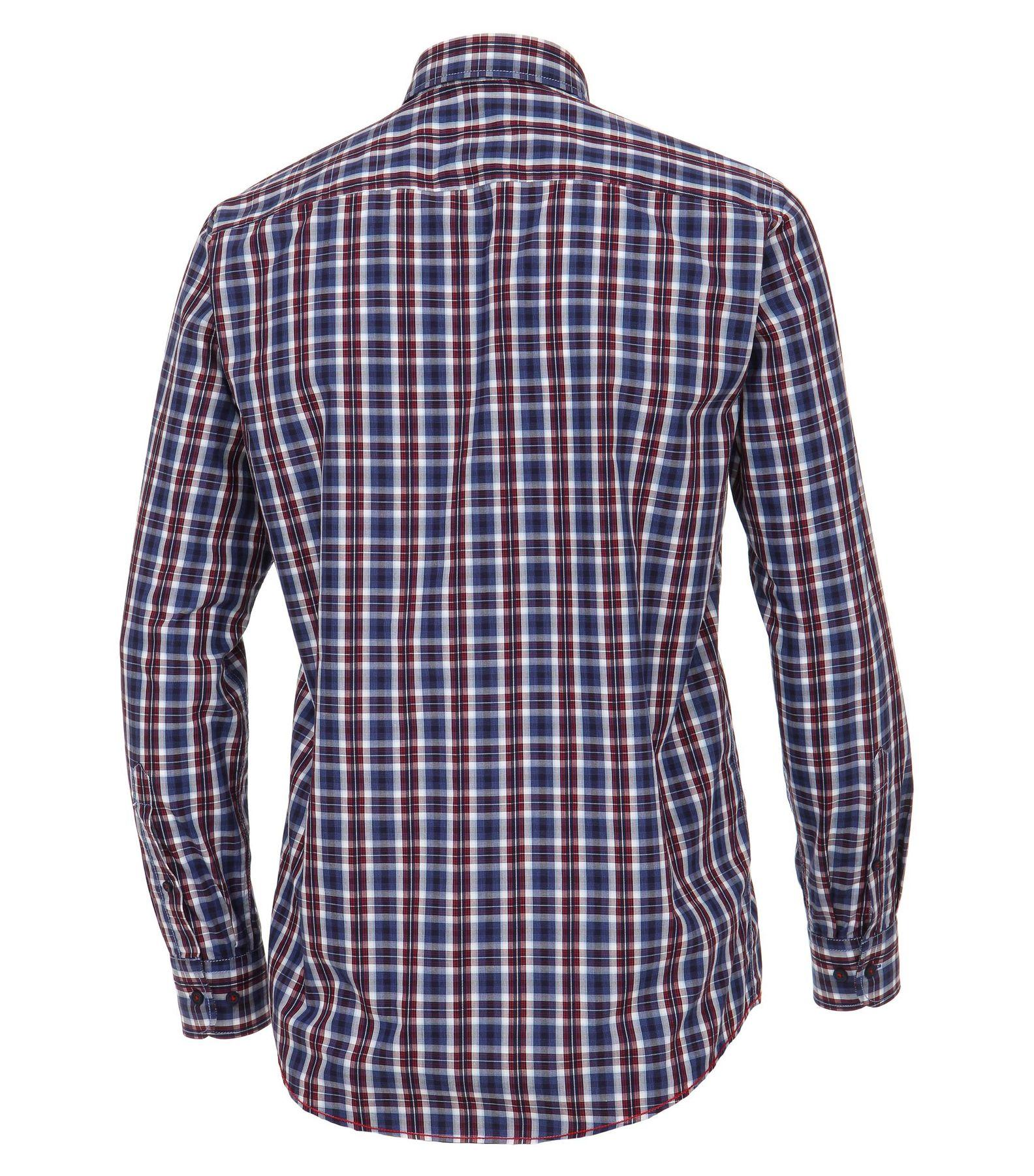 Casa Moda - Casual Fit - Dobby Herren Hemd kariert mit Button Down-Kragen in Blau (472802400A) – Bild 2