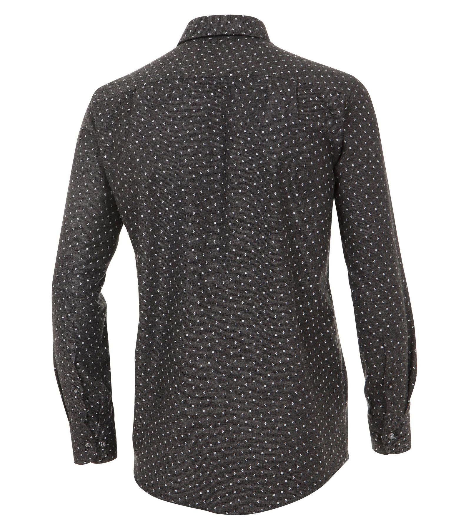Casa Moda - Casual Fit - Flanell Herren Hemd, mit modischem Druck und Kent-Kragen in Braun (472823800) – Bild 2