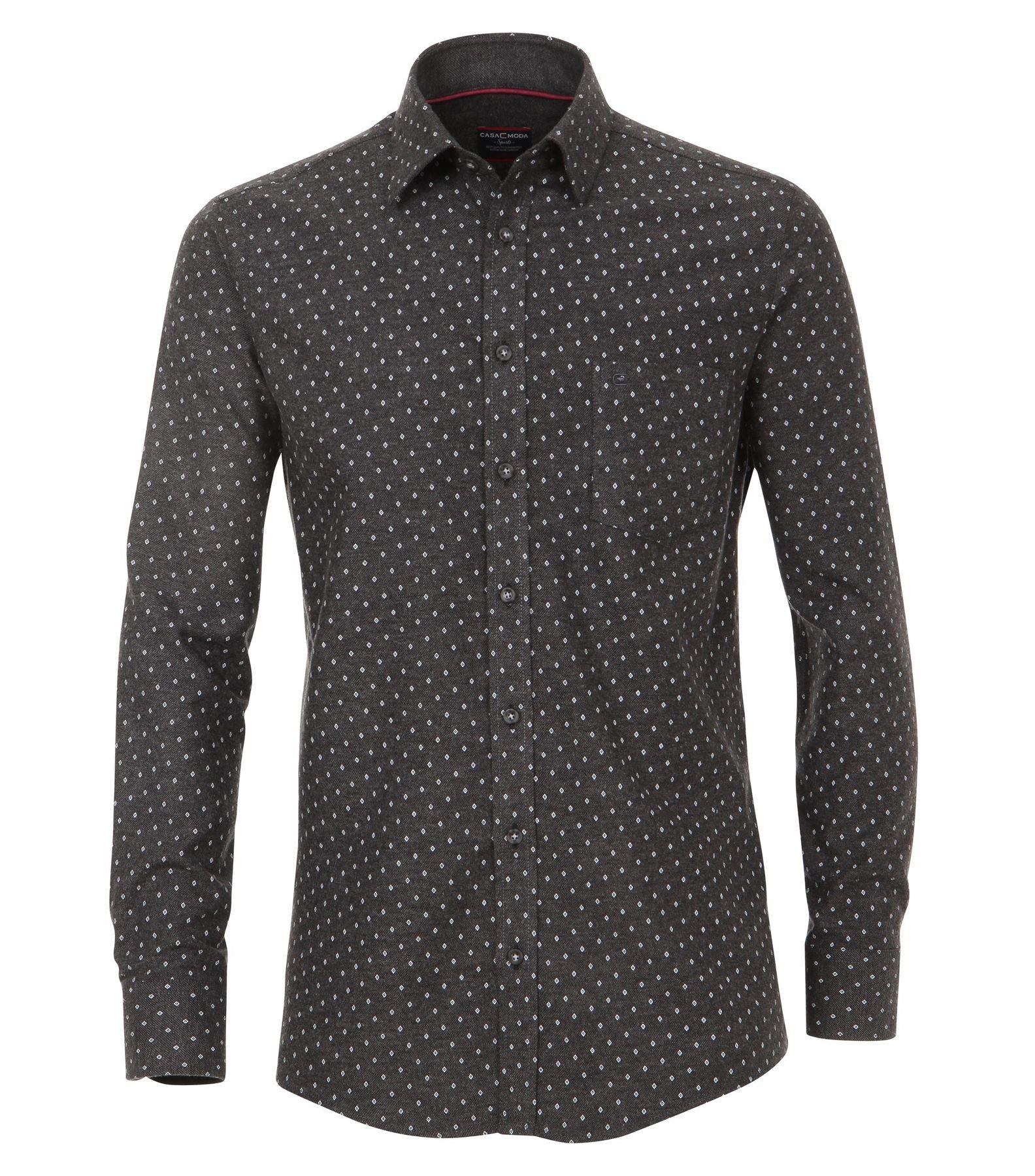 Casa Moda - Casual Fit - Flanell Herren Hemd, mit modischem Druck und Kent-Kragen in Braun (472823800) – Bild 1