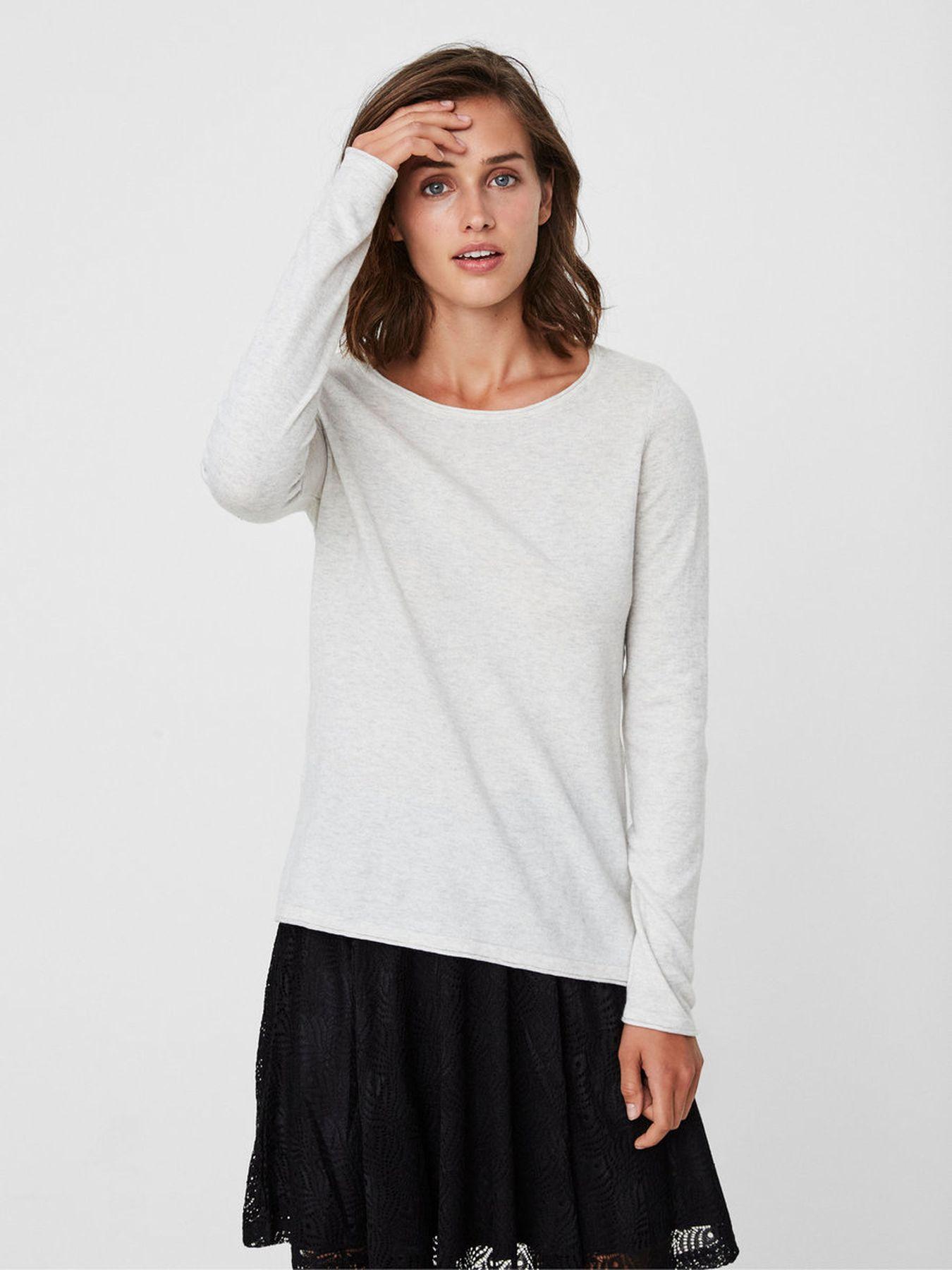 VERO MODA - Damen Shirt in grey oder navy (10181871) – Bild 6