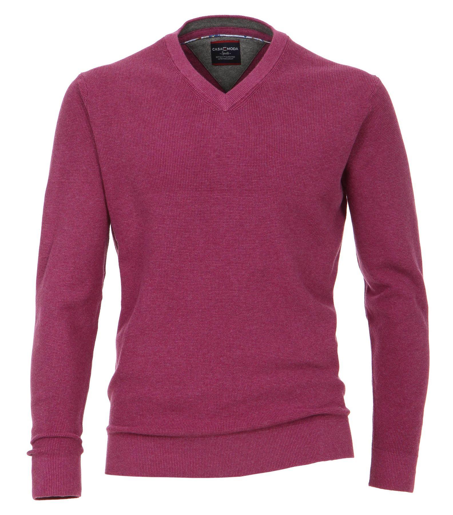 Casa Moda - Unifarbener Herren Pullover mit V-Ausschnitt  (472625000A) – Bild 16