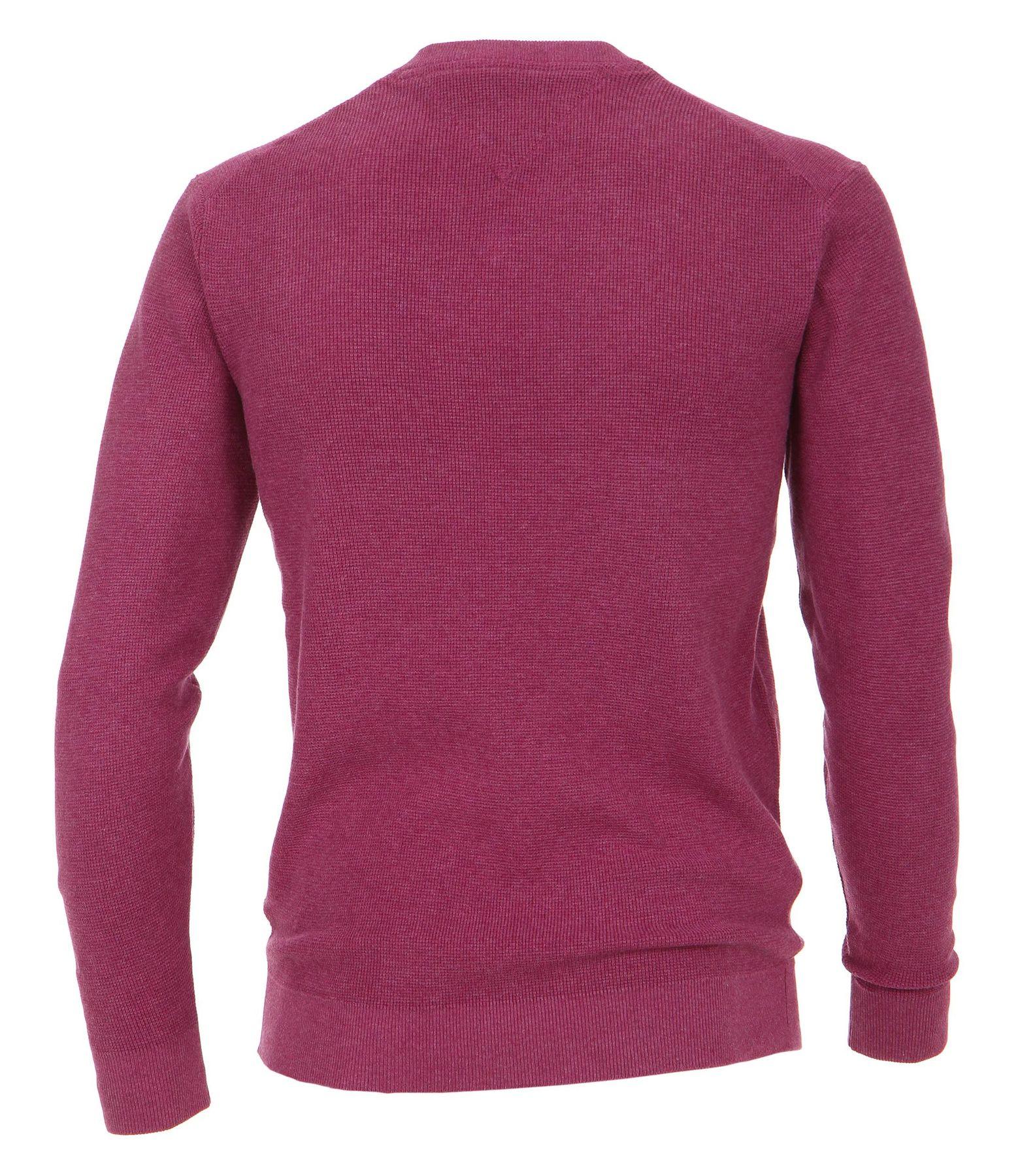 Casa Moda - Unifarbener Herren Pullover mit V-Ausschnitt  (472625000A) – Bild 17