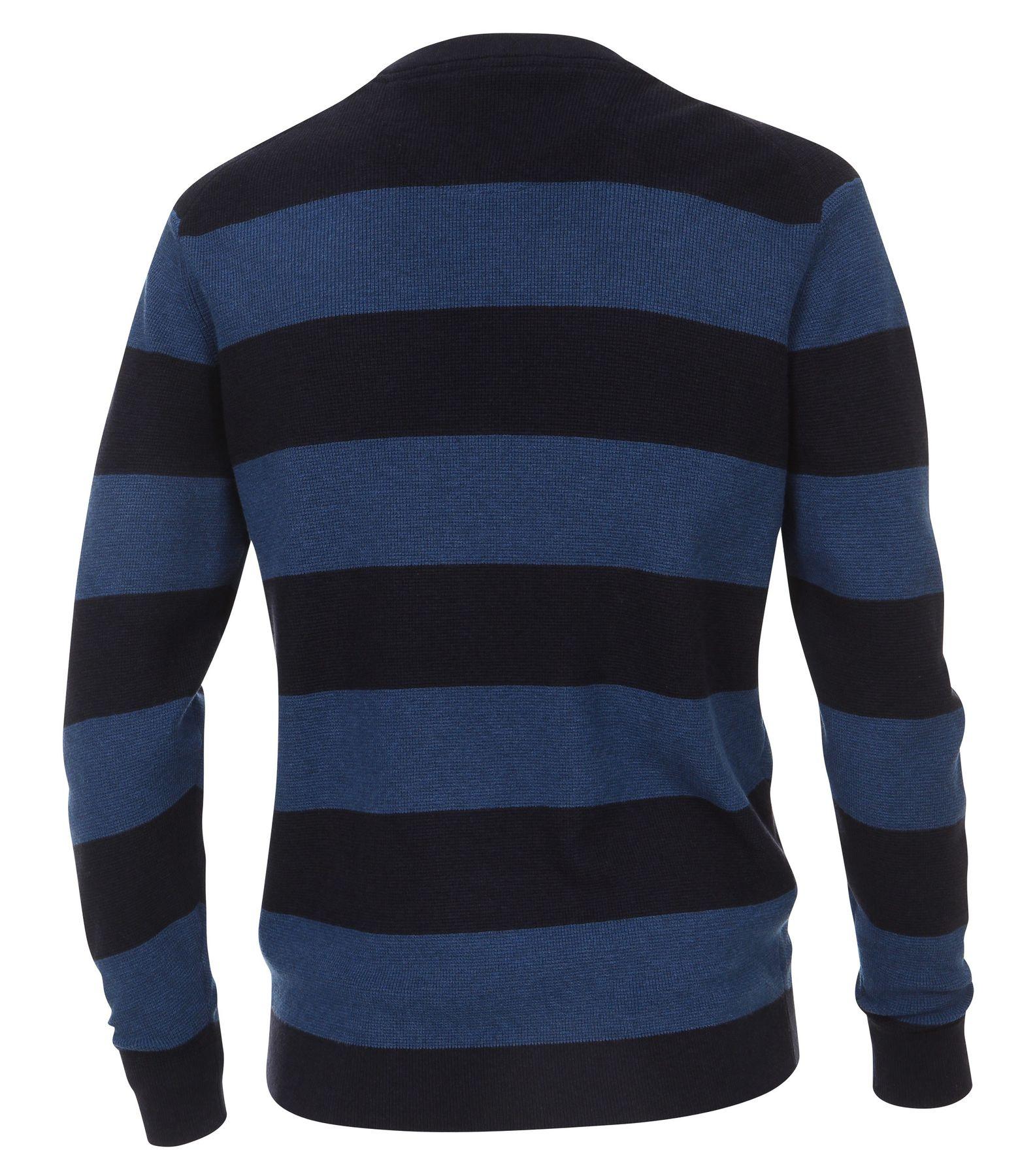 Casa Moda - Herren Pullover mit Rundhalsausschnitt, gestreift in Braun und Blau (472625100A) – Bild 2