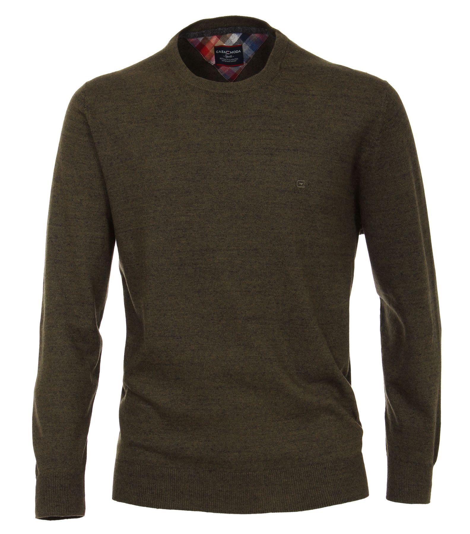 Casa Moda - Herren Pullover mit Rundhalsausschnitt unifarben in verschiedenen Farben  (472778100A) – Bild 7