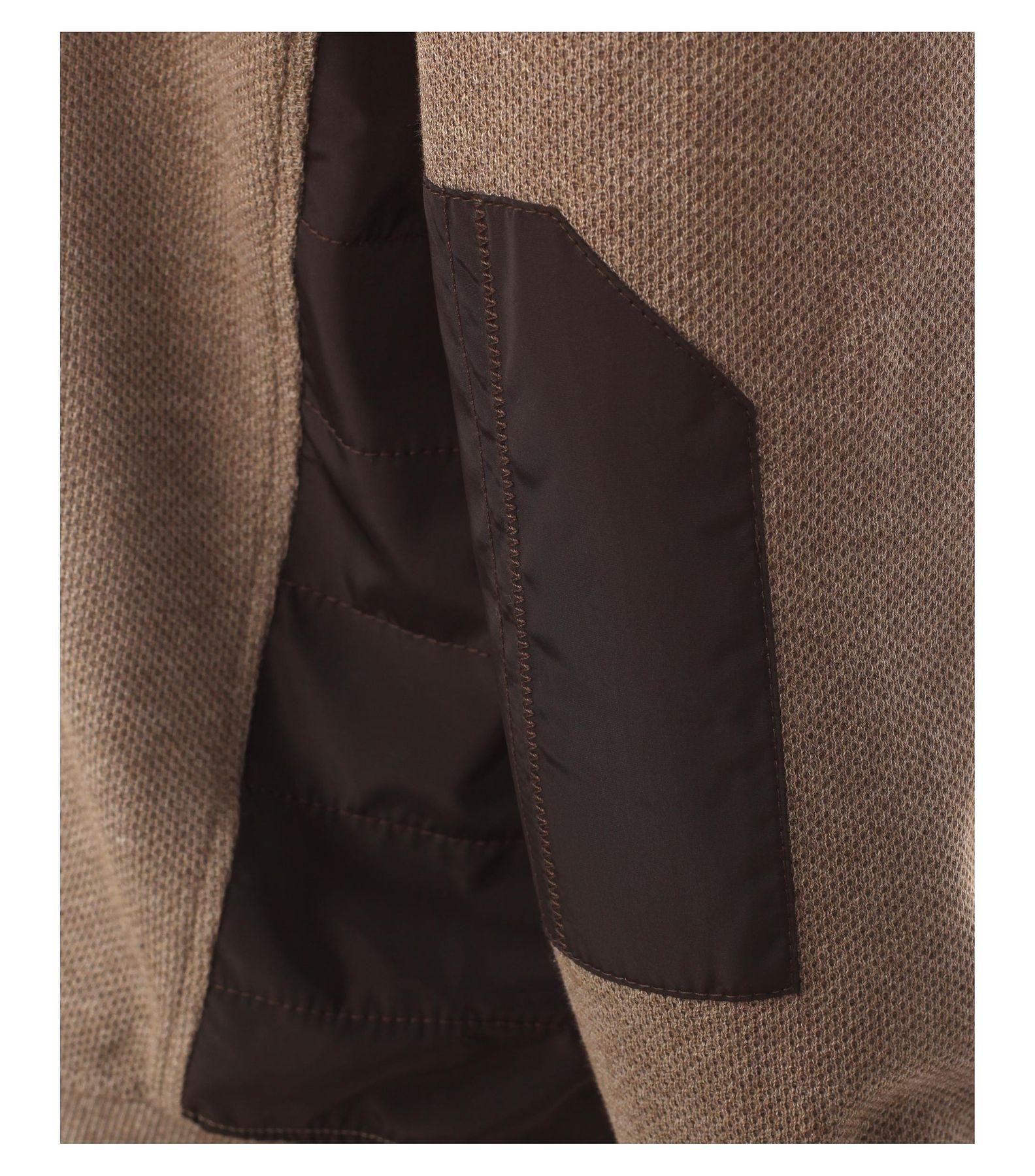 Casa Moda - Herren Sweat-Troyer mit Ellenbogen-Patches und Stickerei auf der Brust in Blau und Braun (472625900A) – Bild 5