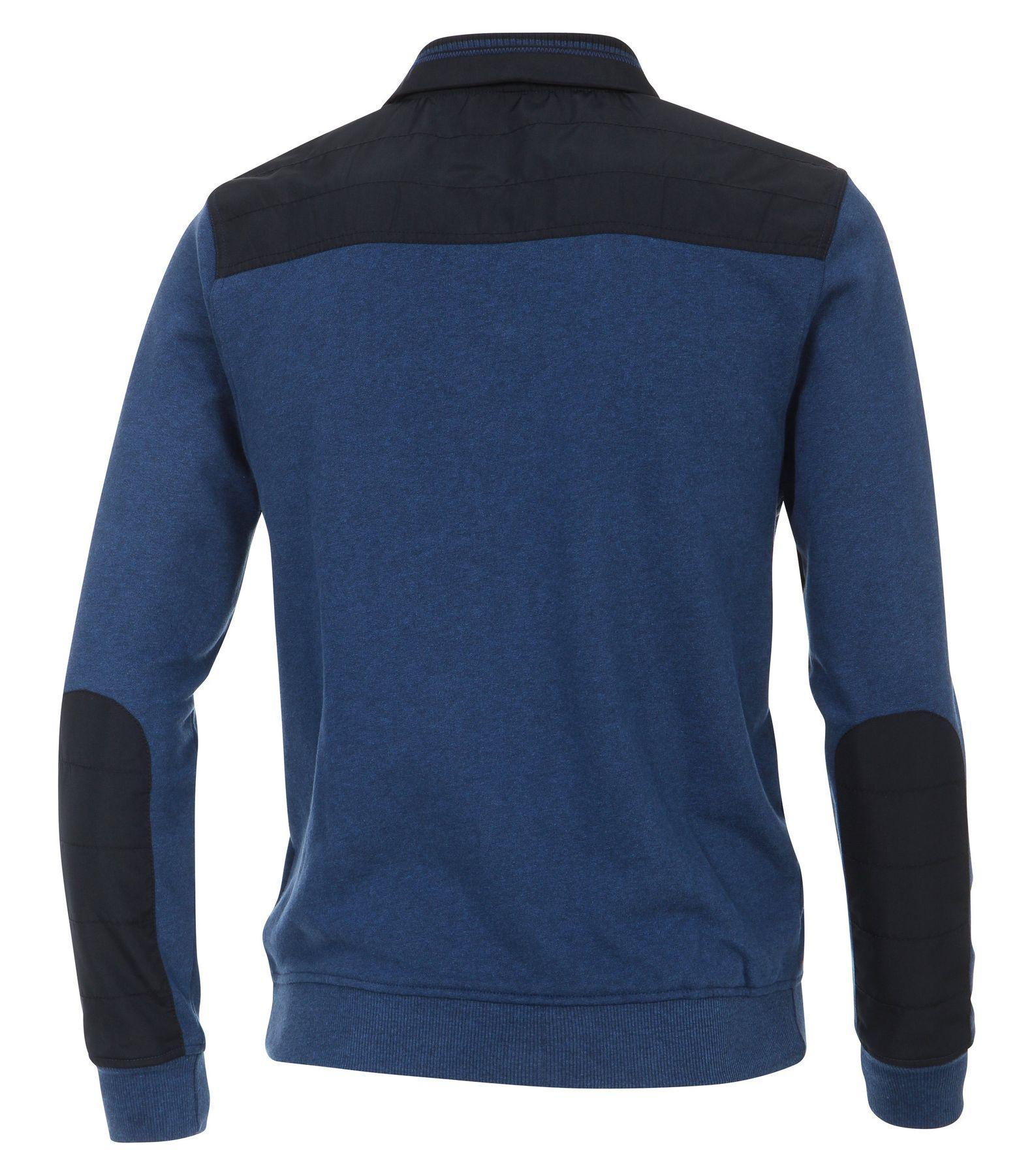 Casa Moda - Herren Sweat-Troyer mit Stickerei auf der Brust in Blau (472780600A) – Bild 2