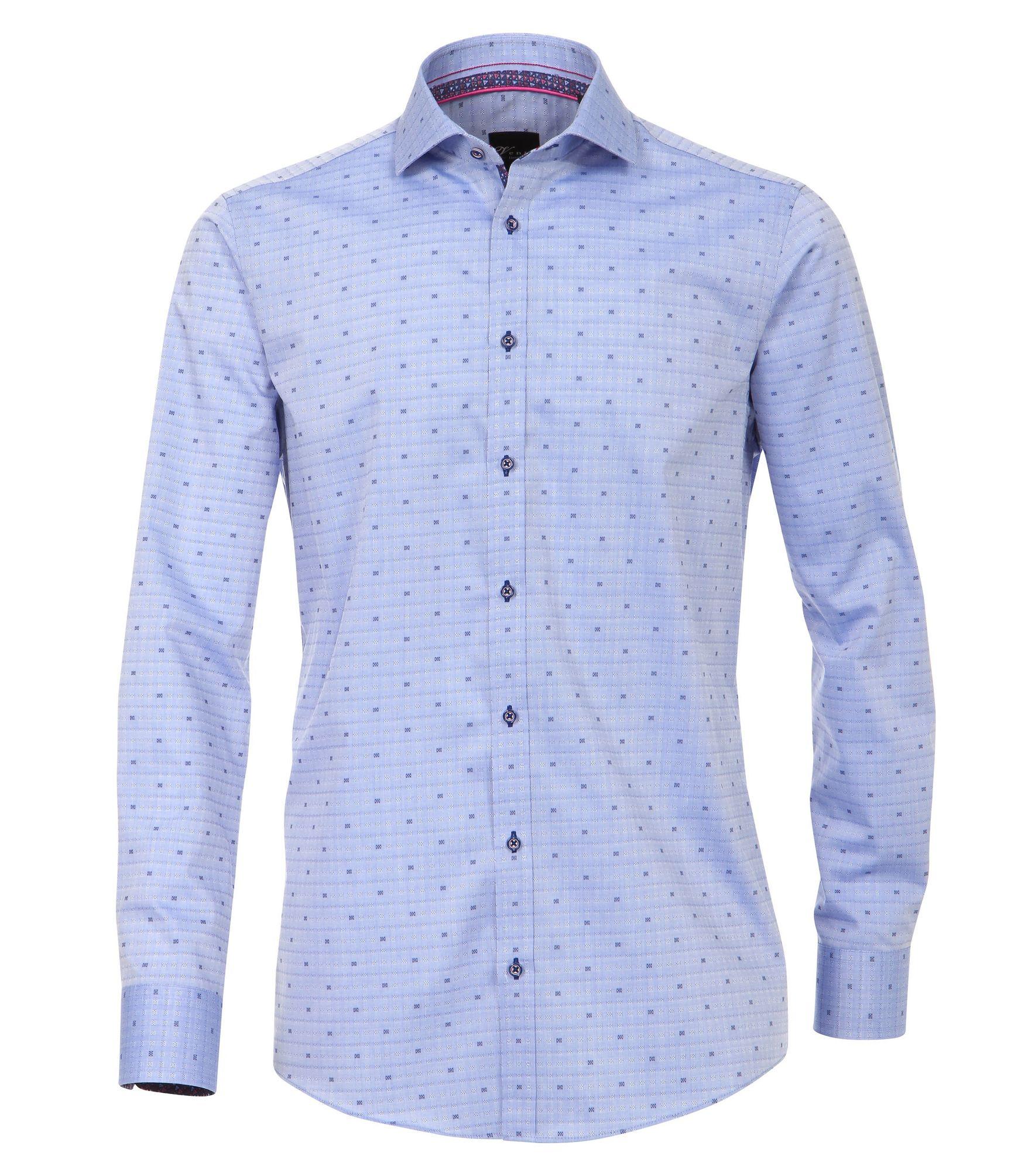 size 40 e99fa c0b33 Venti - Slim Fit - Herren Hemd mit modischem Druck in blau (172810700A)