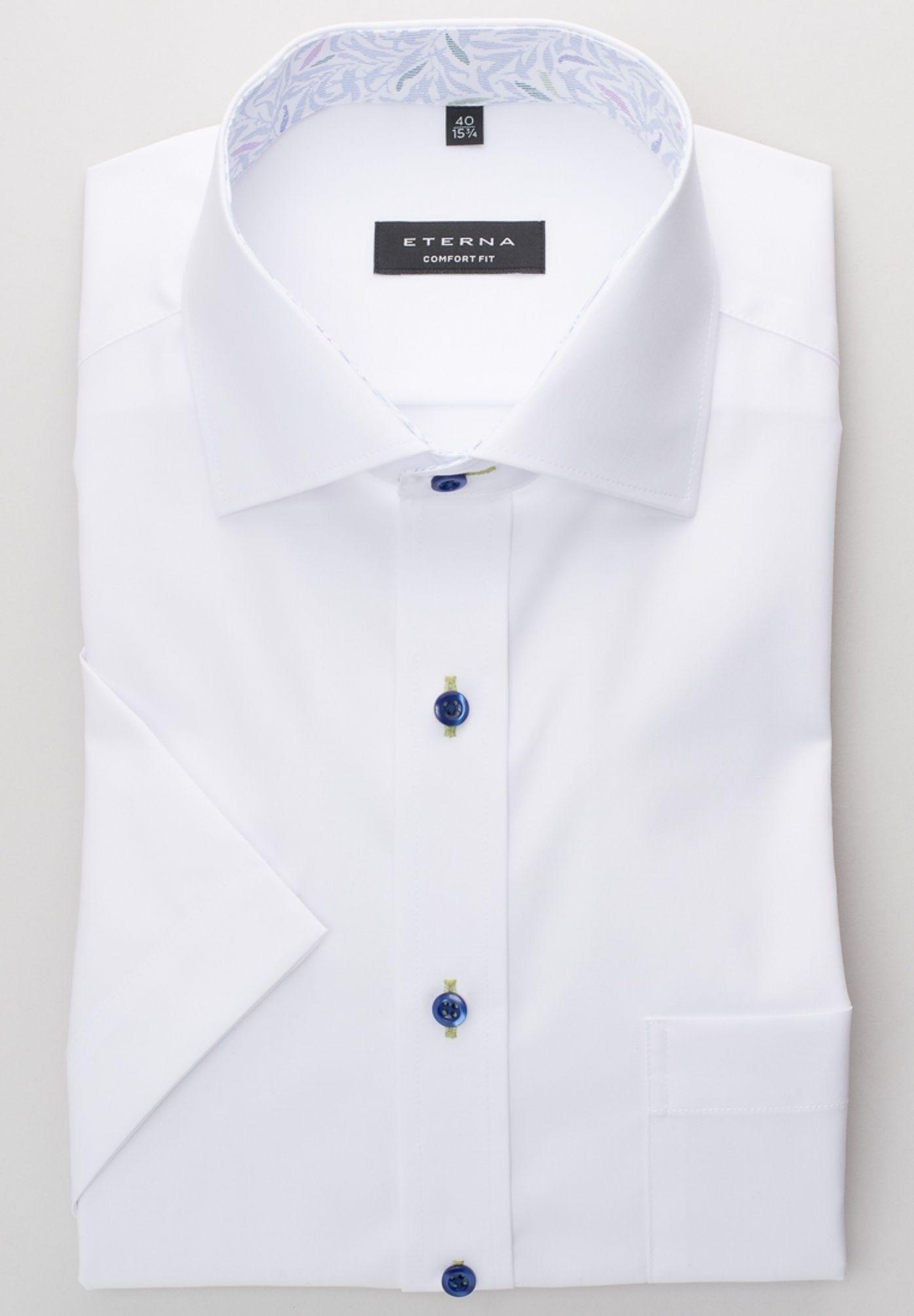 Eterna - Comfort Fit - Bügelfreies Herren Kurzarm Hemd mit Button-Down  Kragen (8505 46451e329f