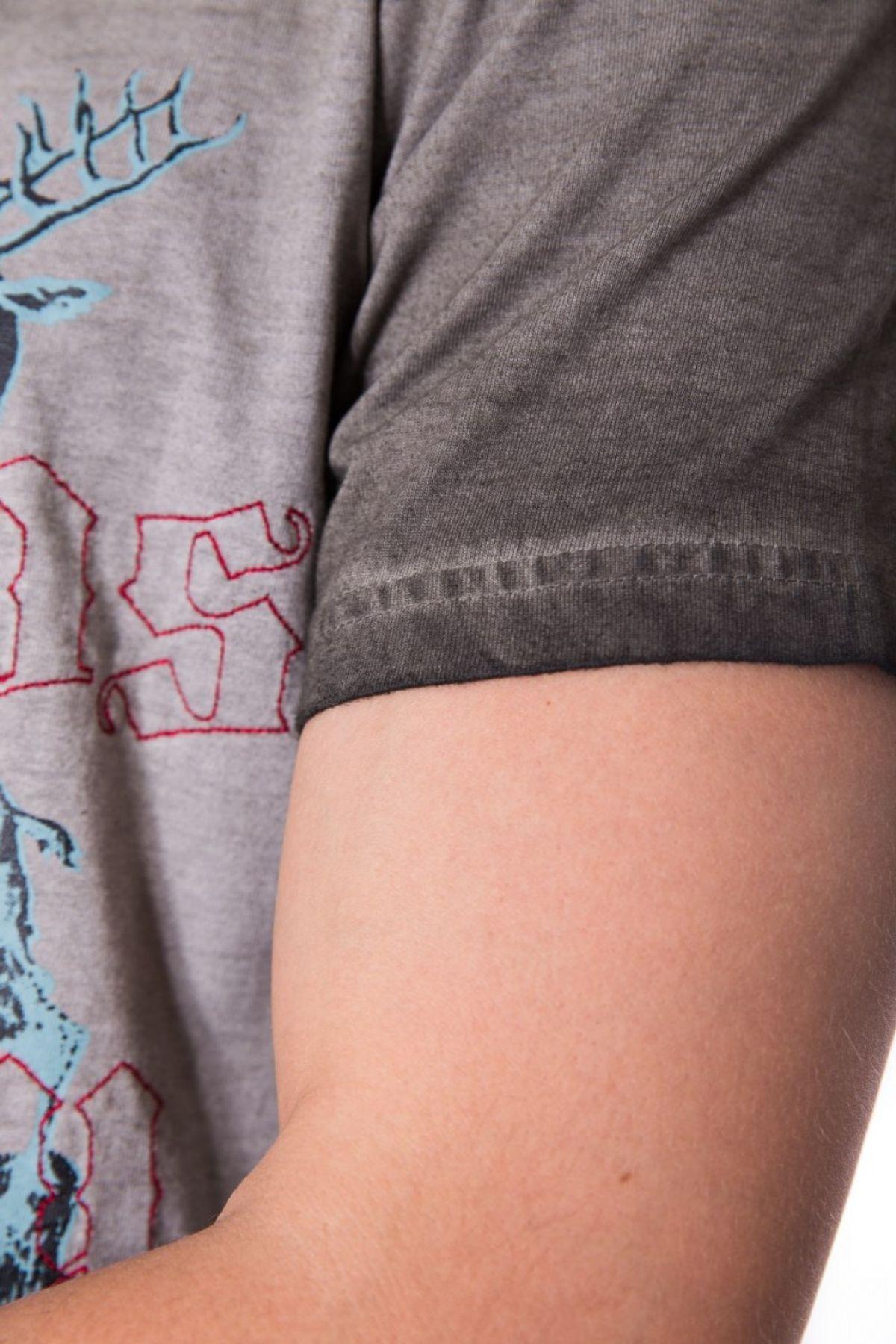Krüger - Herren Trachten T-Shirt in Braun, Furchtlos und Treu (92209-7) – Bild 4