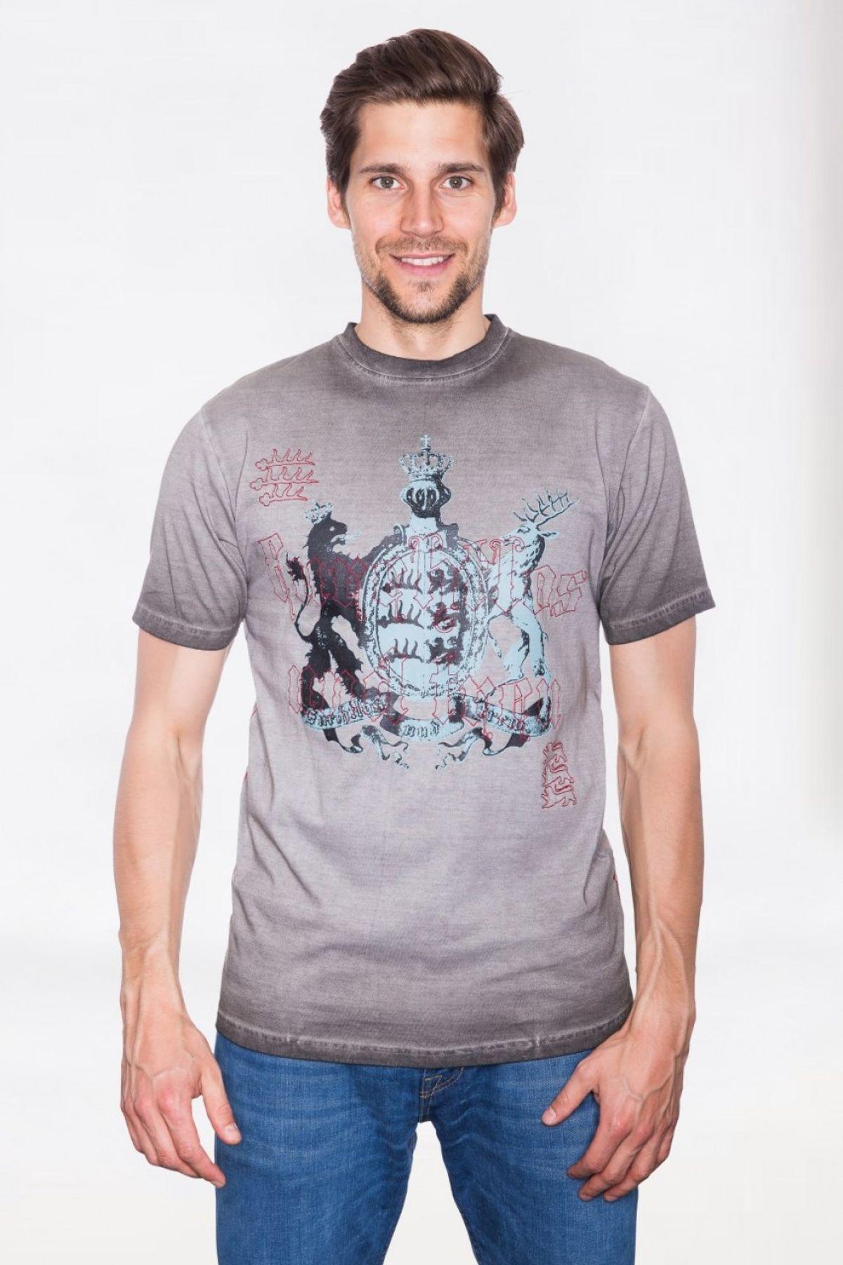 Krüger - Herren Trachten T-Shirt in Braun, Furchtlos und Treu (92209-7) – Bild 2