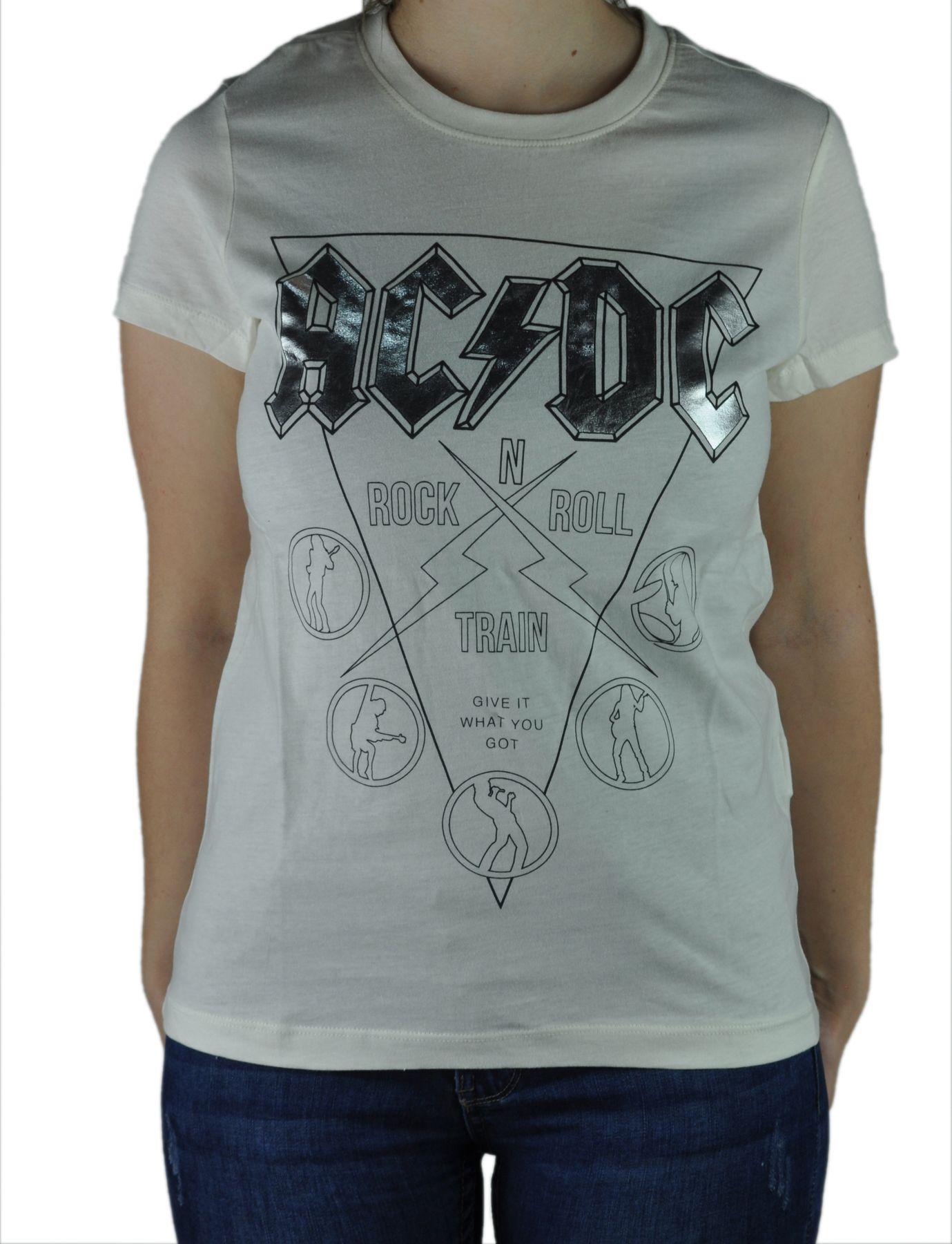 VERO MODA - Damen Shirt mit ACDC oder Pink Floyd (10190172) – Bild 1