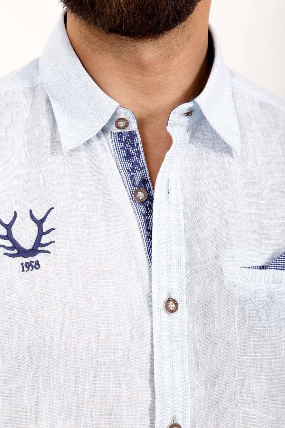 Krüger - Herren Trachtenhemd in blau, Finn (95108-81) – Bild 6