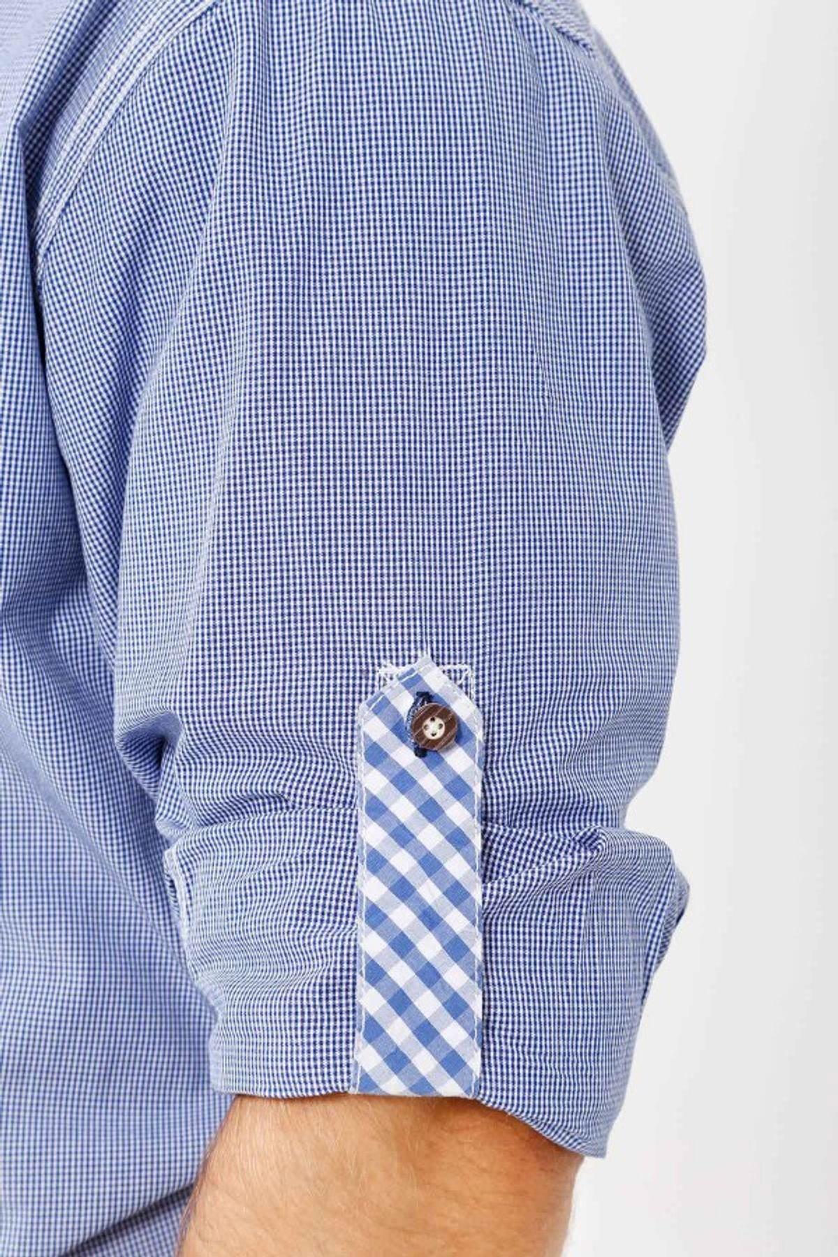 Krüger - Herren Trachtenhemd in blau, Himmelsgucker (91109-8) – Bild 2