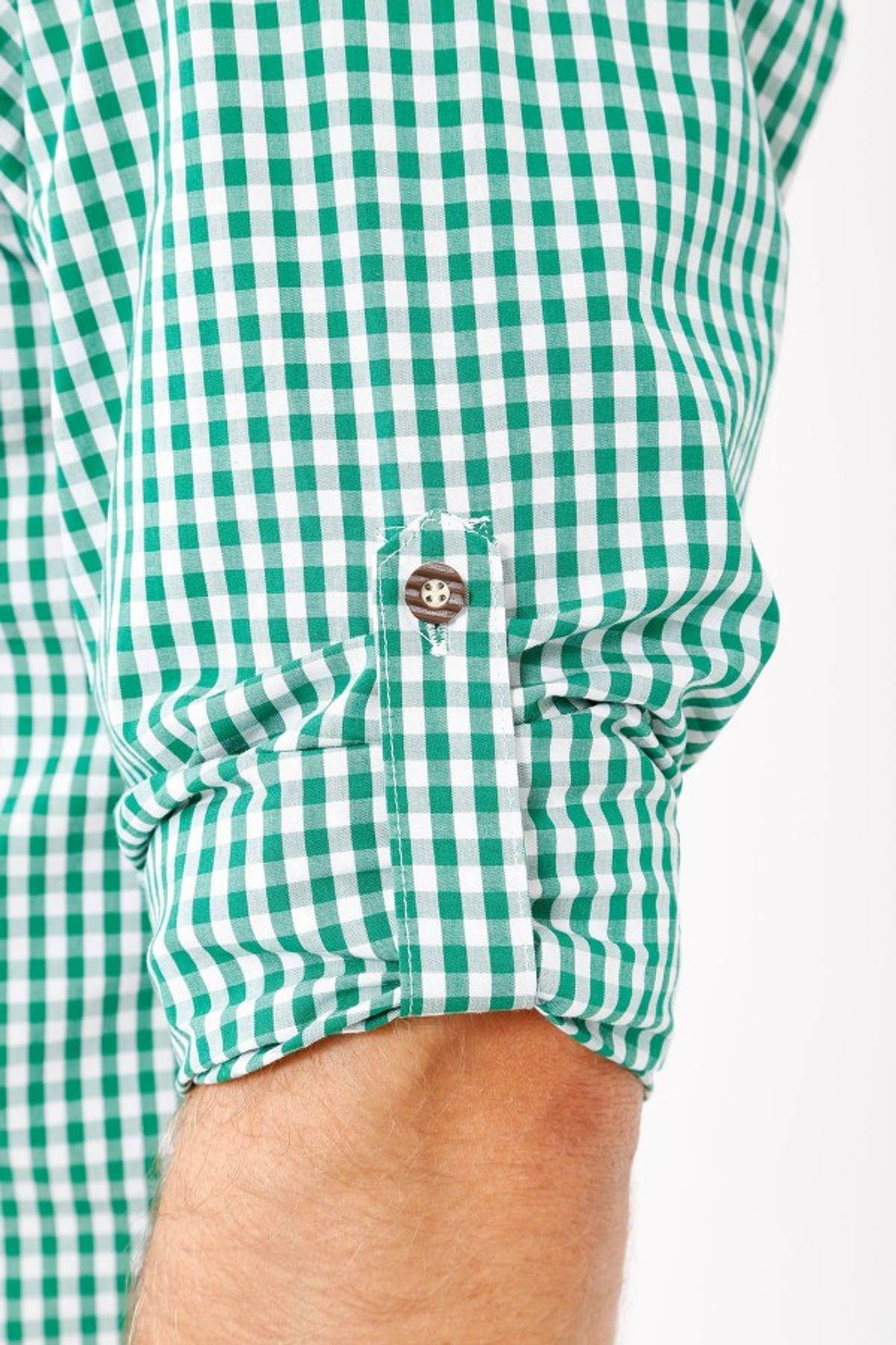 Krüger - Herren Trachtenhemd in grün, Josef (96133-5) – Bild 2