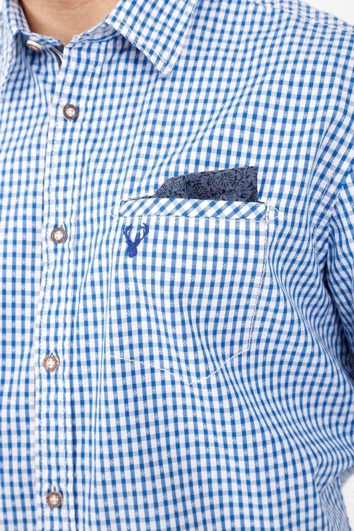 Krüger - Herren Trachtenhemd in blau, Ben (95104-8) – Bild 3