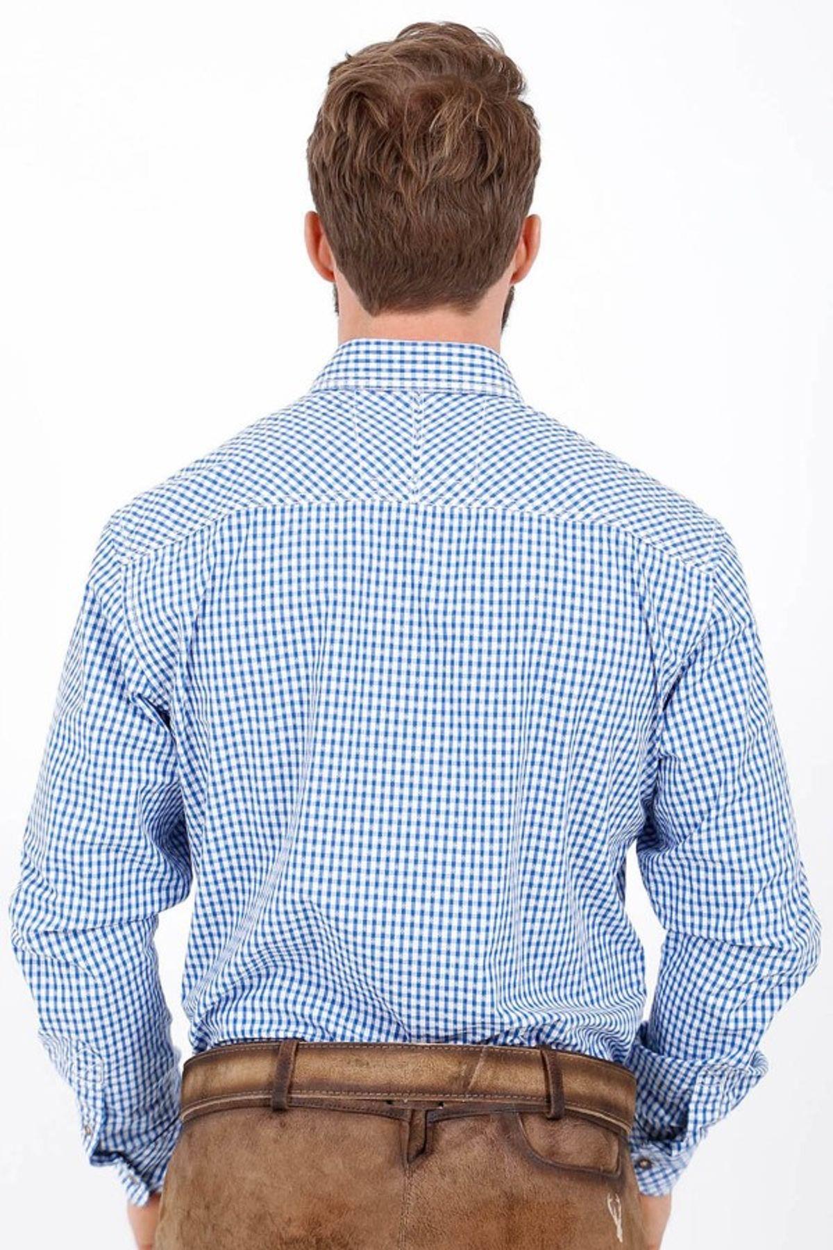 Krüger - Herren Trachtenhemd in blau, Ben (95104-8) – Bild 6
