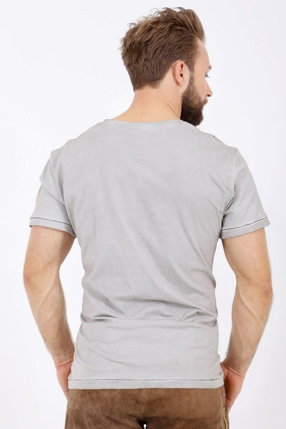 Krüger - Herren Trachten T-Shirt, Jäger Grau (95213-43) – Bild 5