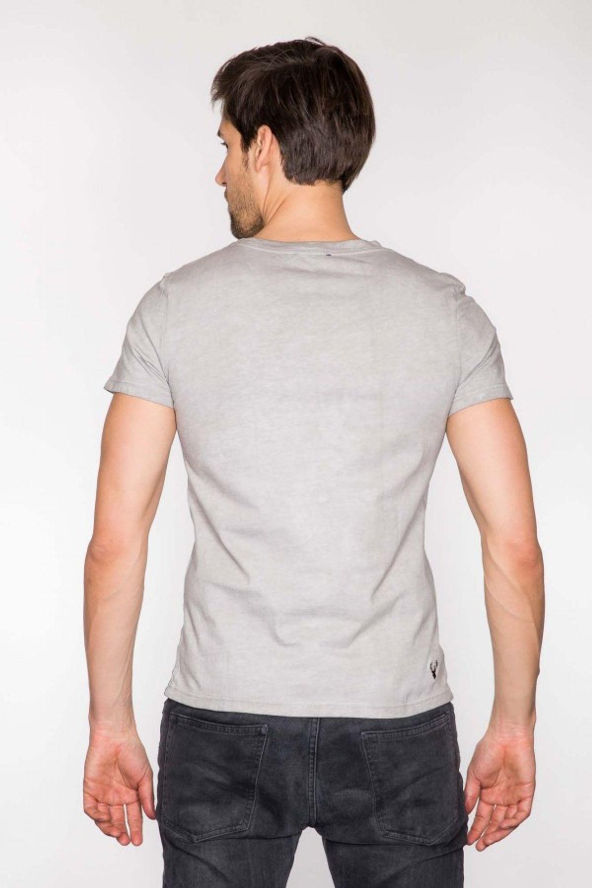 Krüger - Herren Trachten T-Shirt in grau, Grias Di (94200-43) – Bild 6