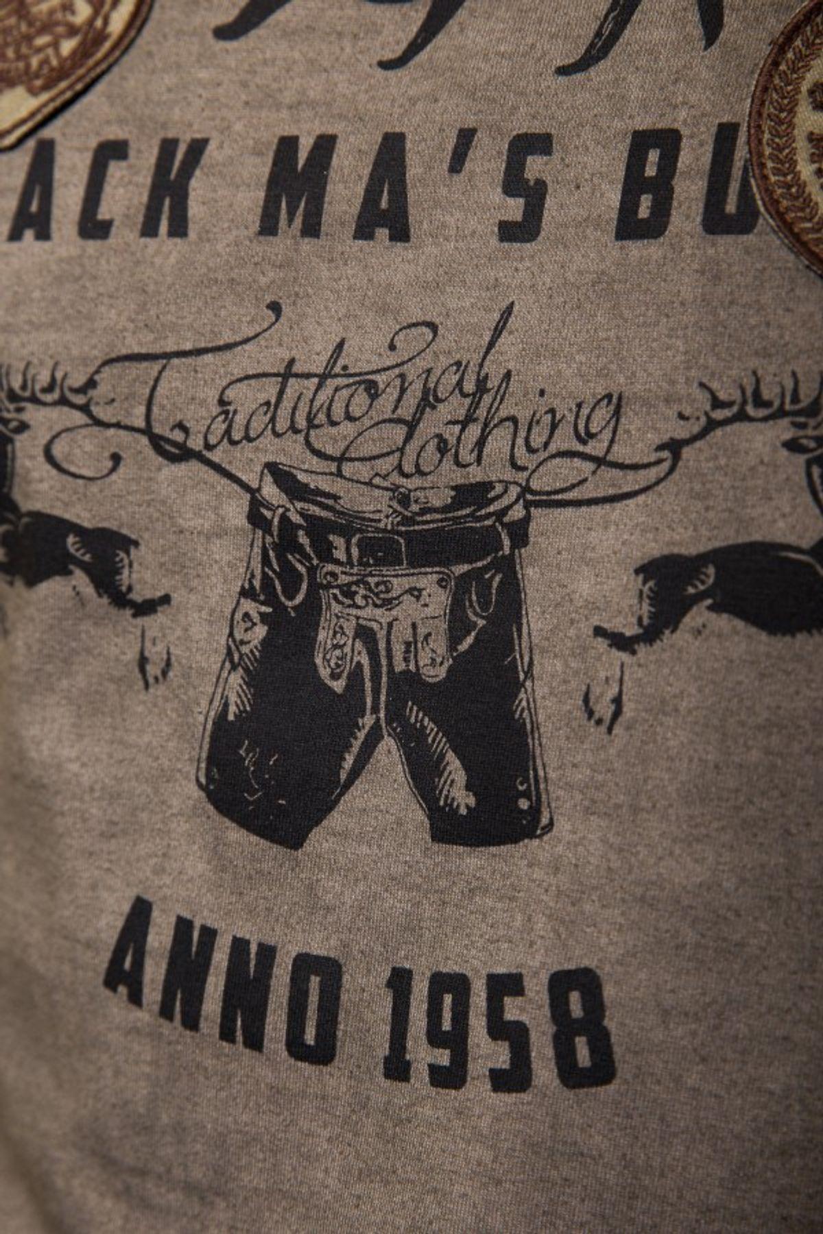 Krüger - Herren Trachten T-Shirt in braun, Pack Ma´s Buam (93202-7) – Bild 4