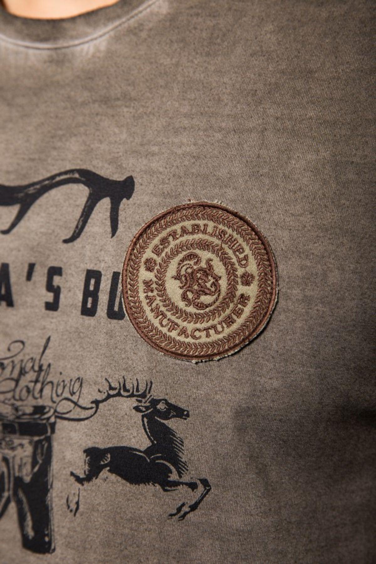 Krüger - Herren Trachten T-Shirt in braun, Pack Ma´s Buam (93202-7) – Bild 5